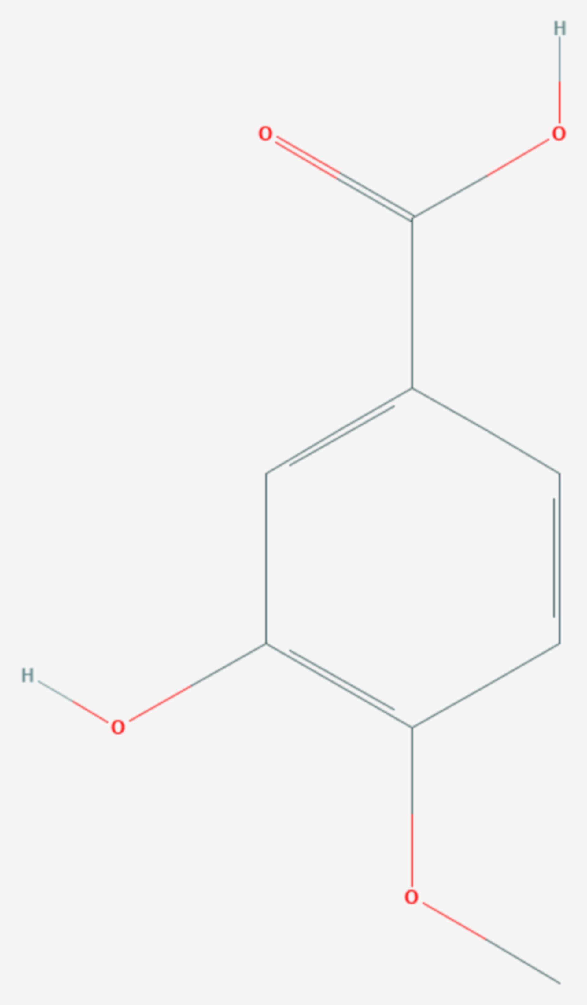 Isovanillinsäure (Strukturformel)