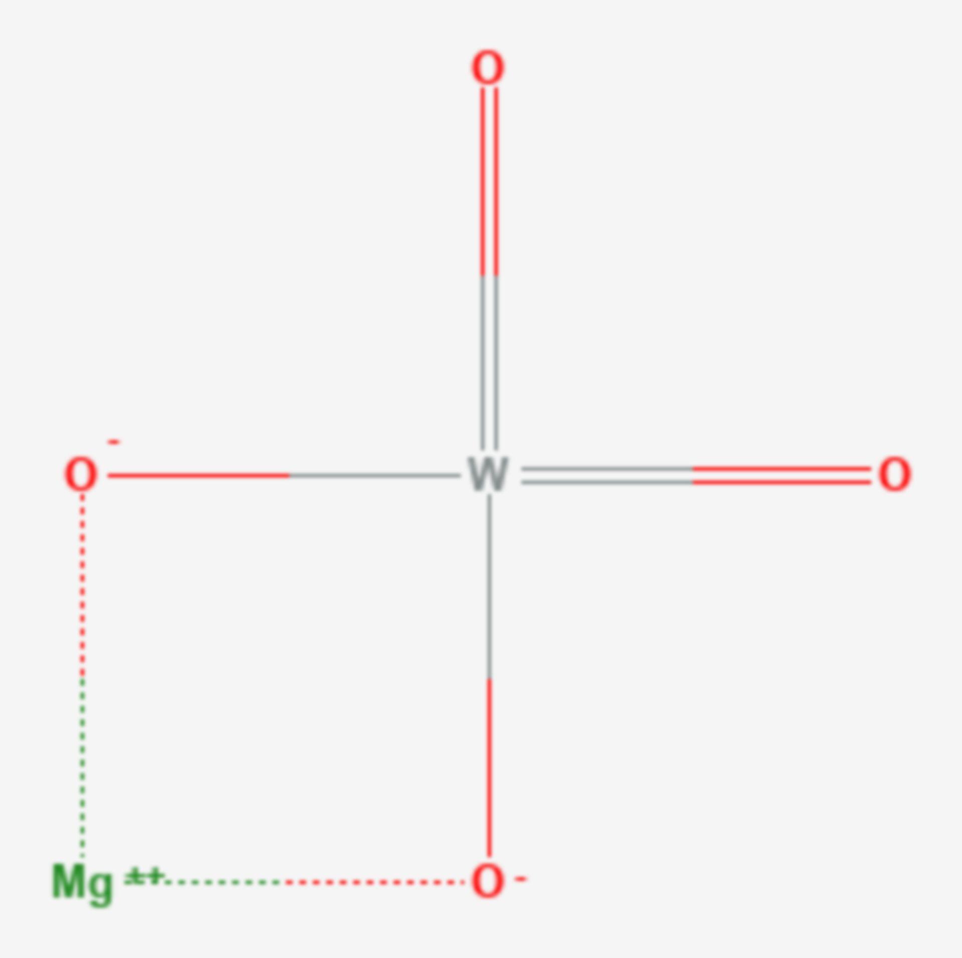 Magnesiumwolframat (Strukturformel)