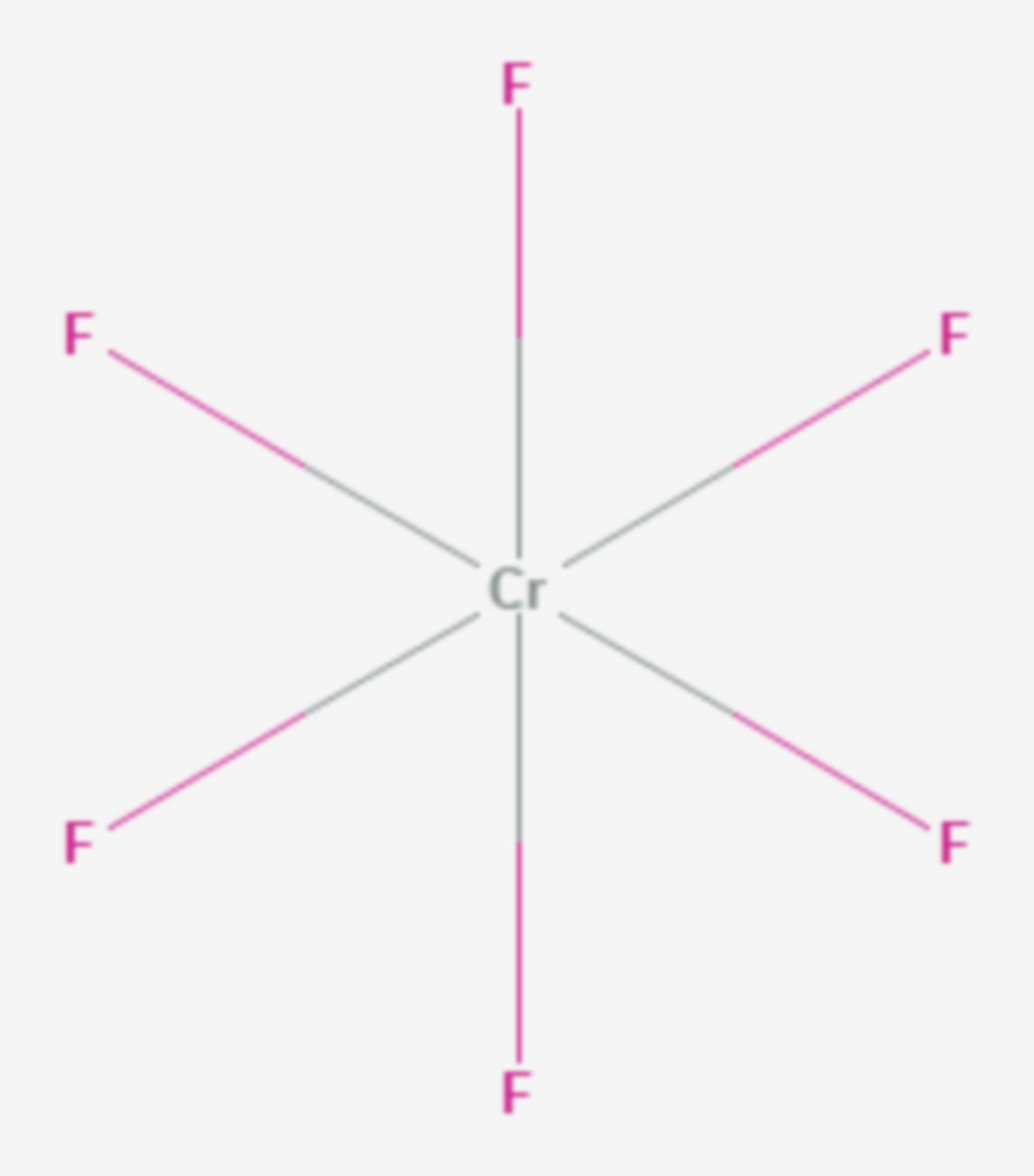 Chrom(VI)-fluorid (Strukturformel)