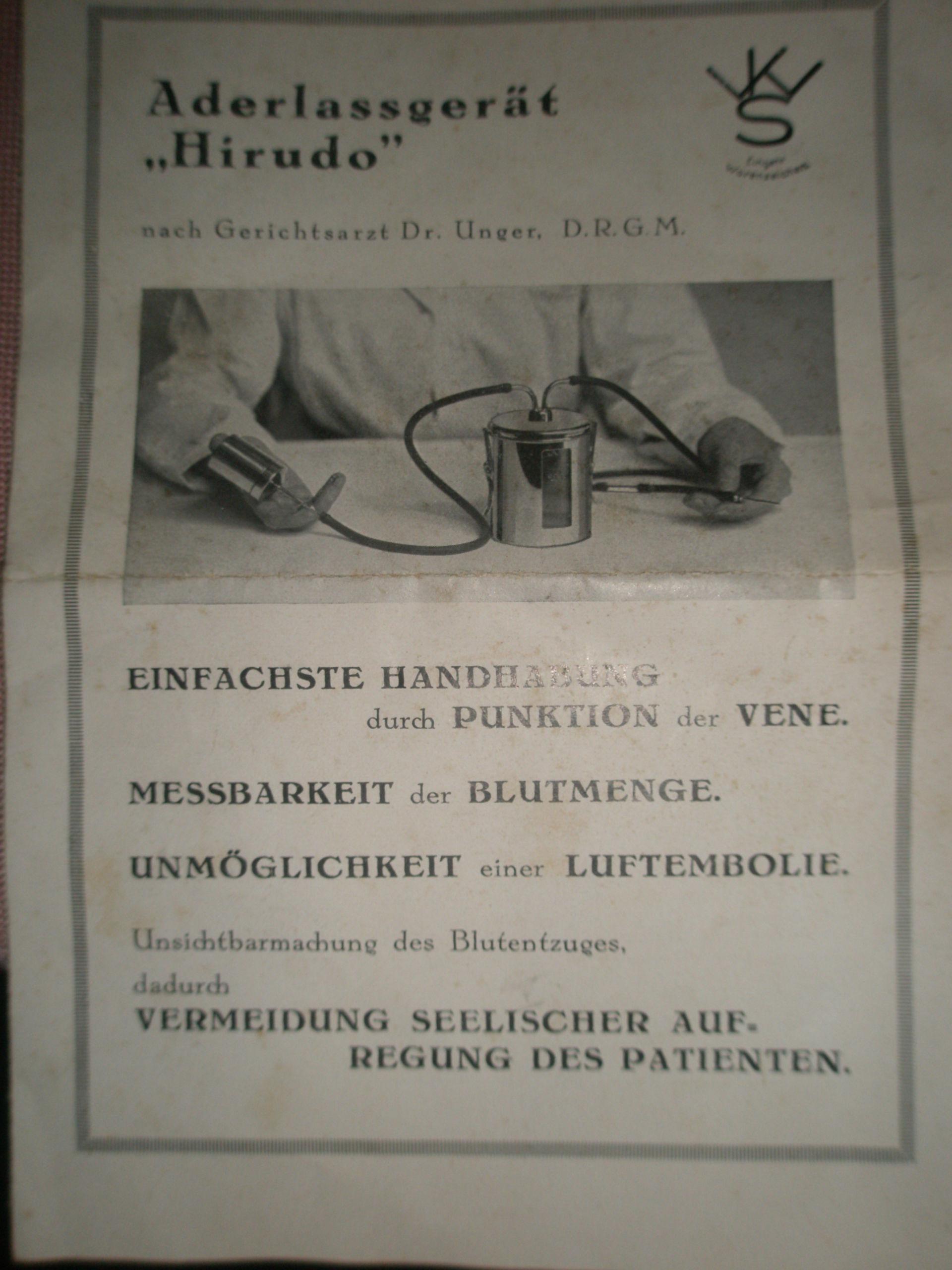 Dispositivo salasso dal 1920