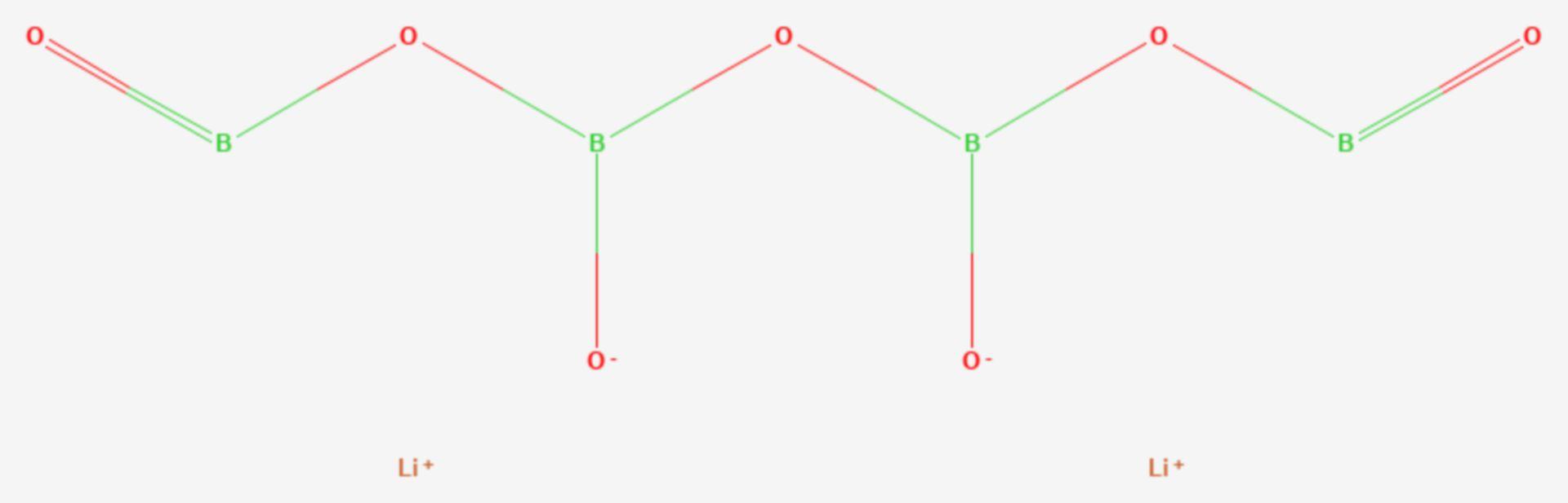Lithiumtetraborat (Strukturformel)
