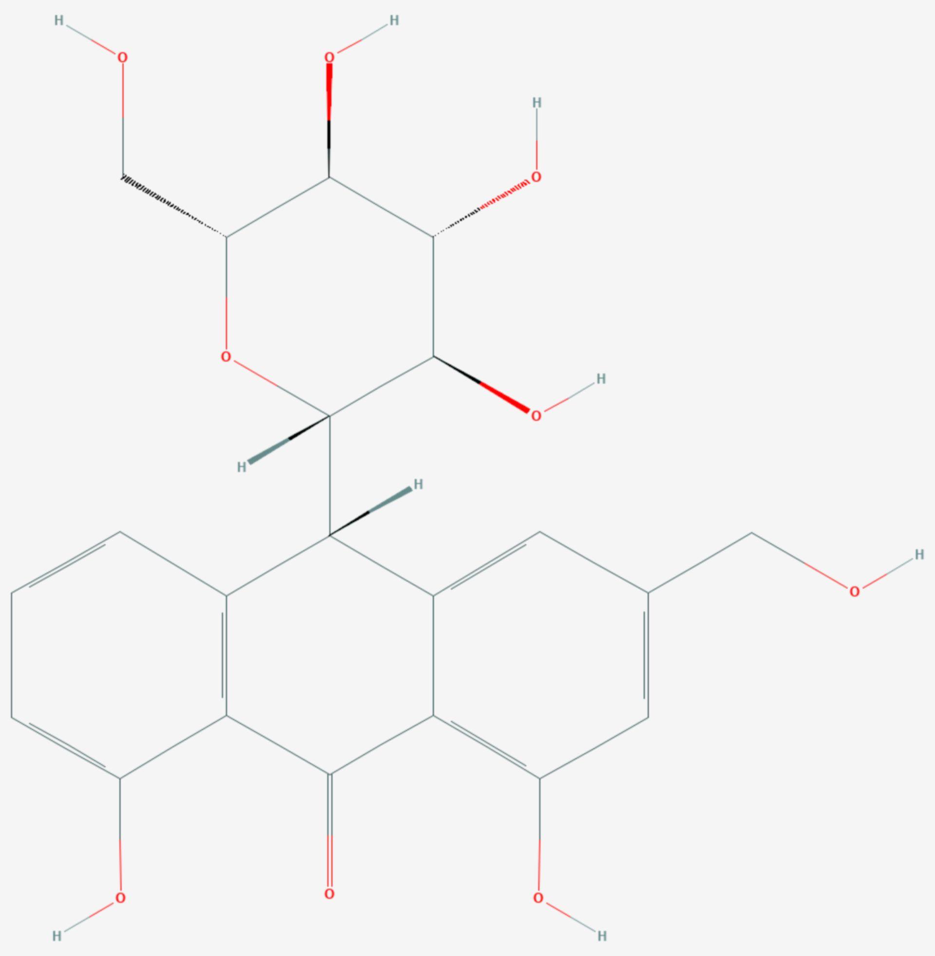 Aloin (Strukturformel)