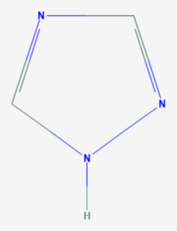 1,2,4-Triazol (Strukturformel)