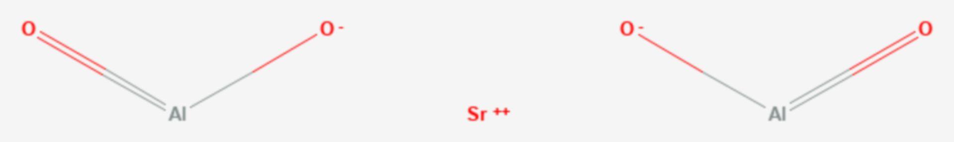 Strontiumaluminat (Strukturformel)