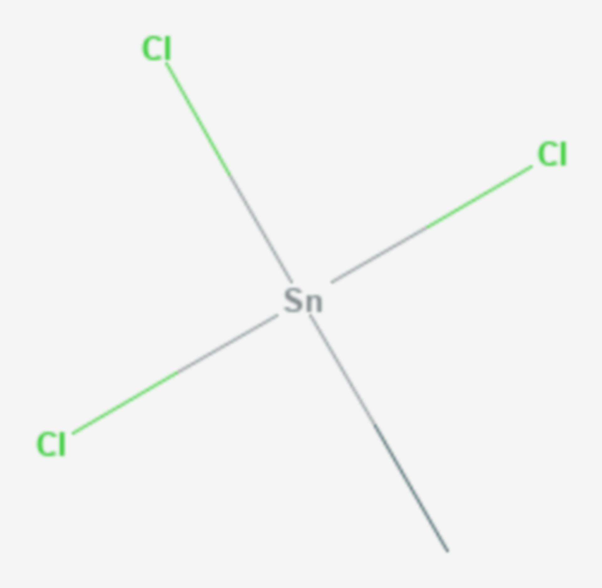 Methylzinntrichlorid (Strukturformel)