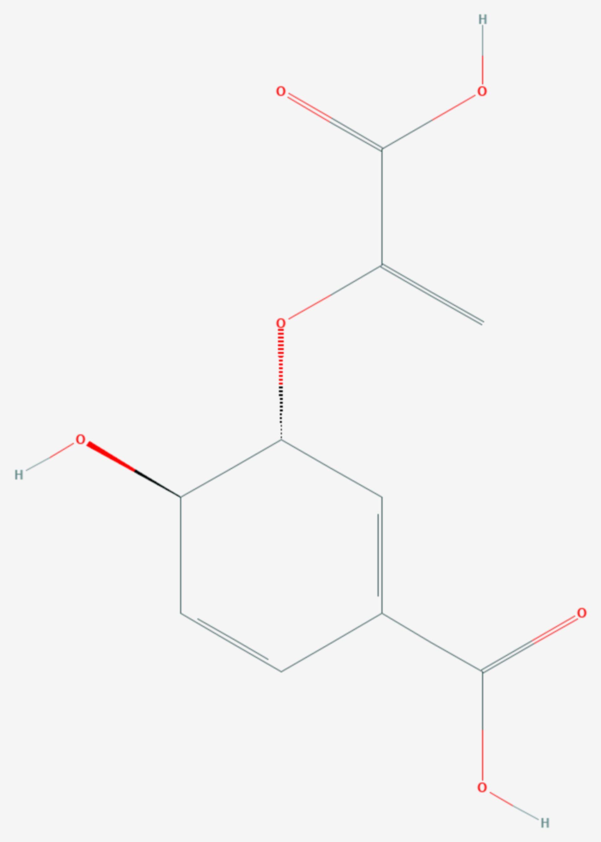 Chorisminsäure (Strukturformel)