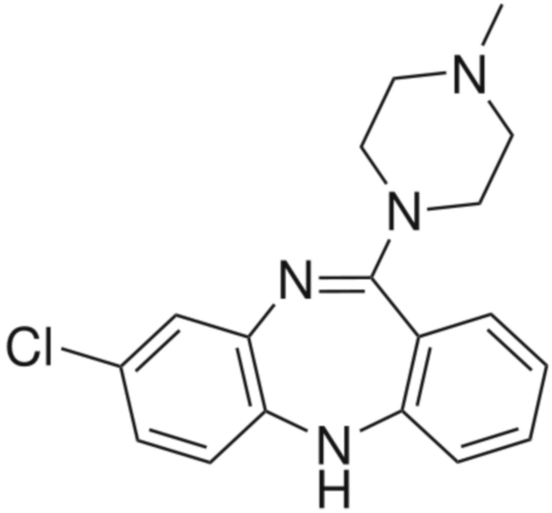 Clozapina formula di struttura
