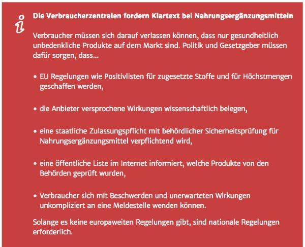 """Ernährungsprojekt """"Klartext Nahrungsergänzung"""" von Bundesministerium für Ernährung und Landwirtschaft und verbraucherzentrale.de"""