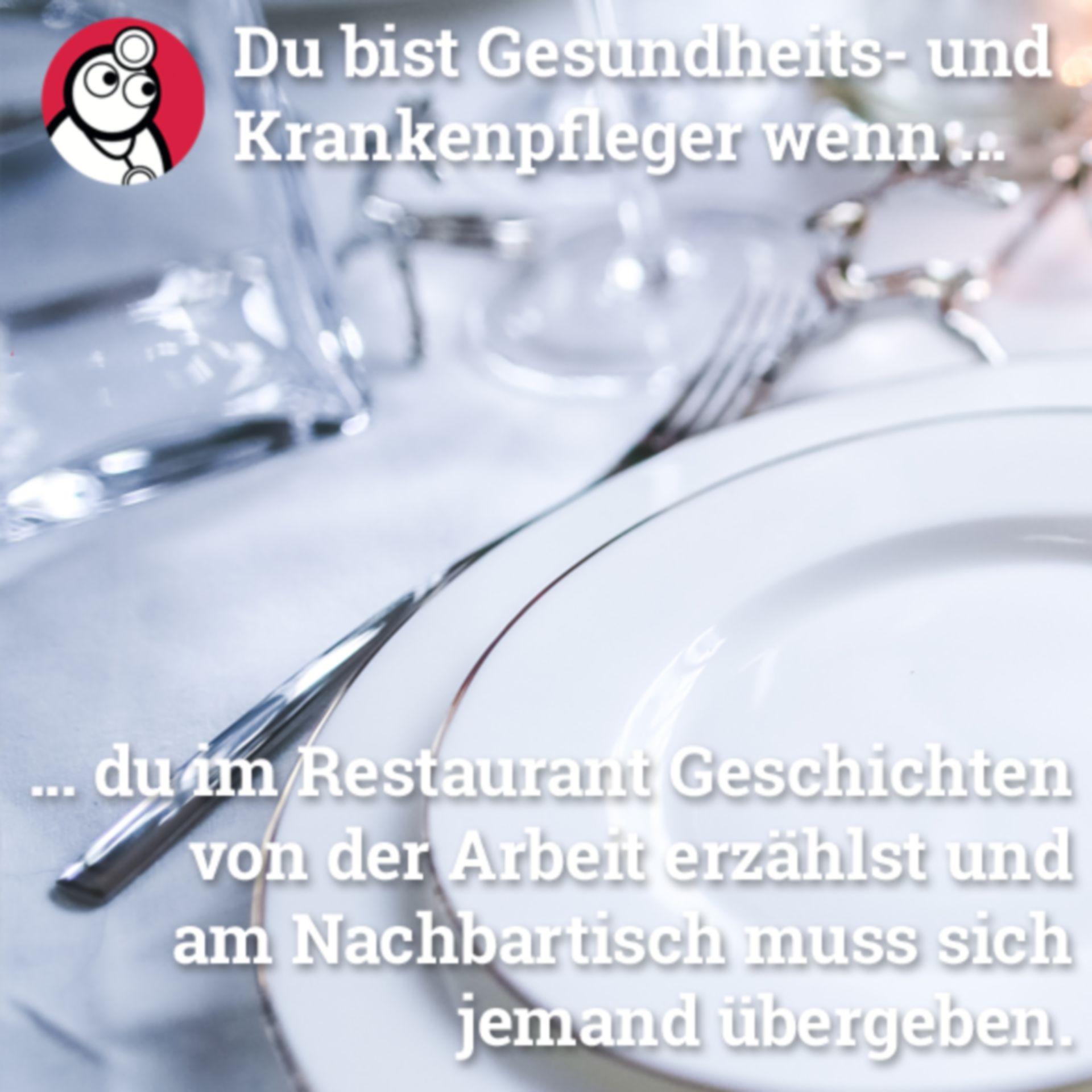 Übelkeit im Restaurant