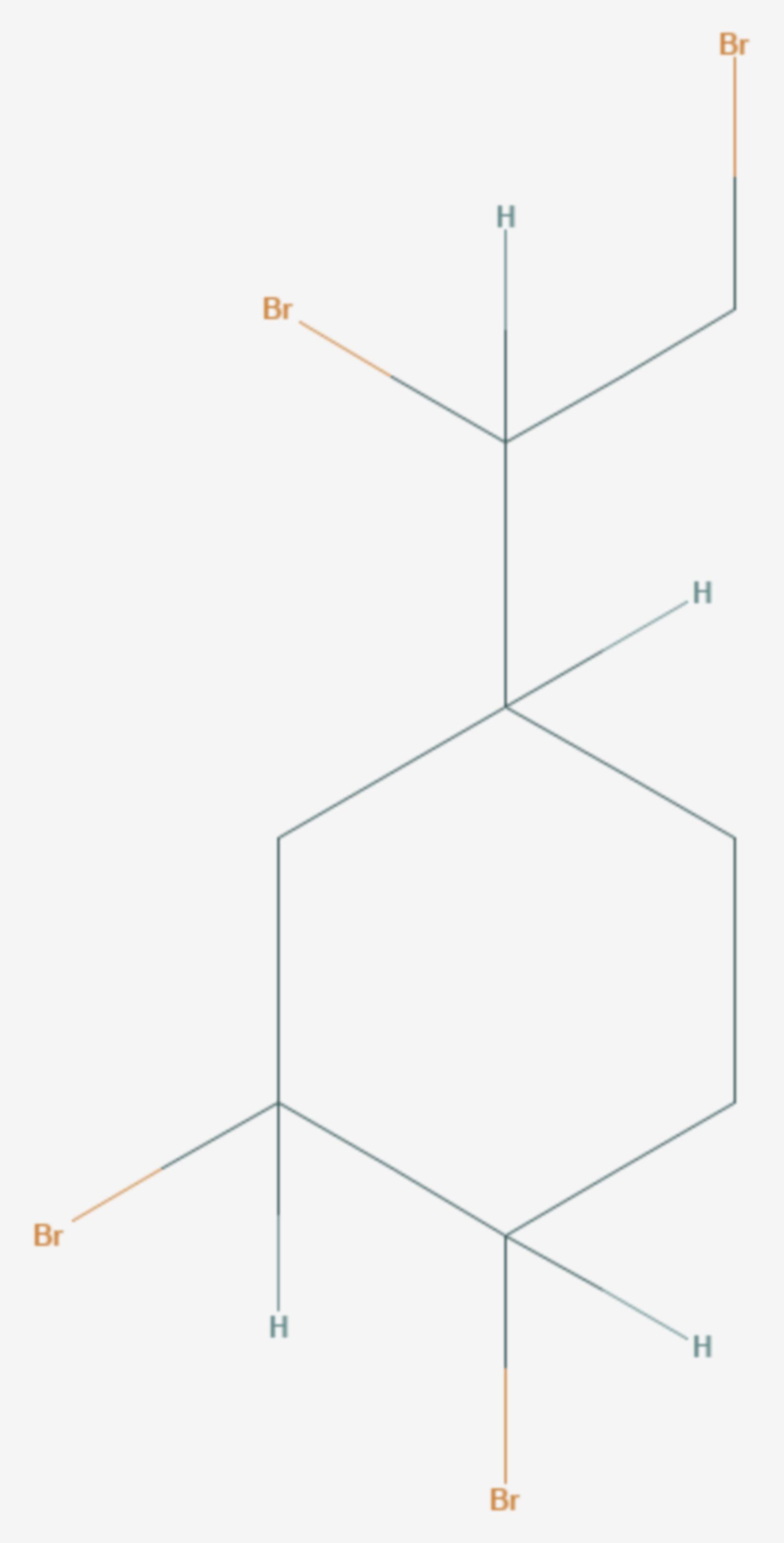 1,2-Dibrom-4-(1,2-dibromethyl)cyclohexan (Strukturformel)