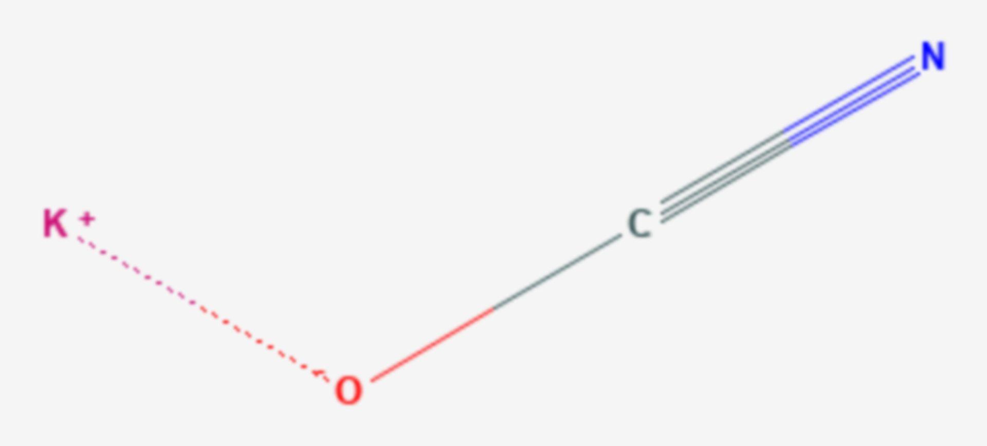 Kaliumcyanat (Strukturformel)
