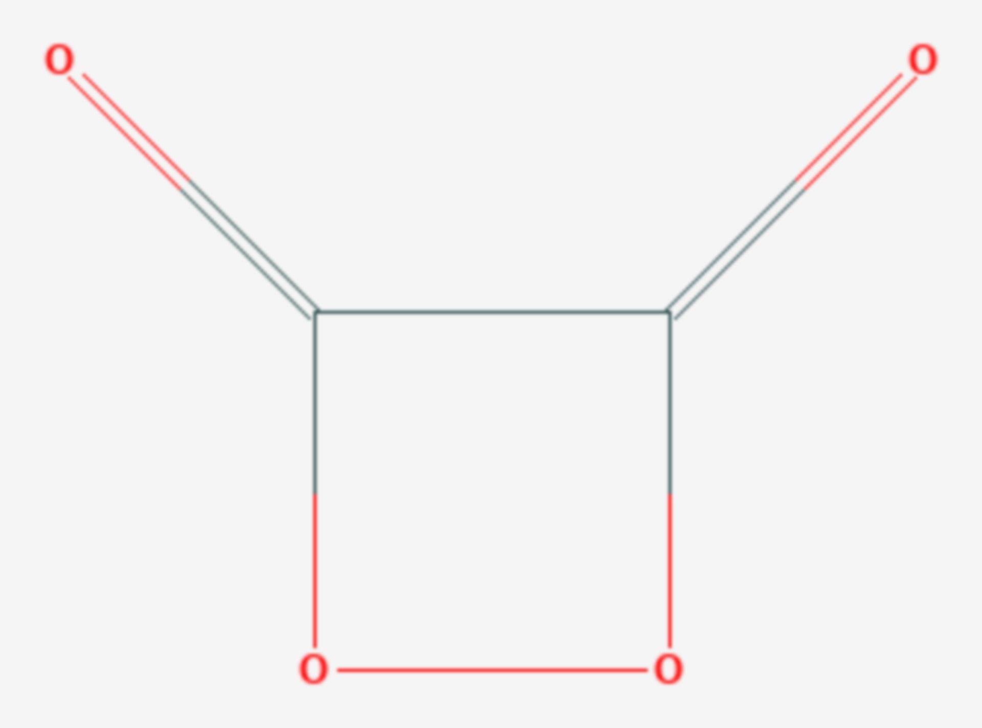 1,2-Dioxetandion (Strukturformel)