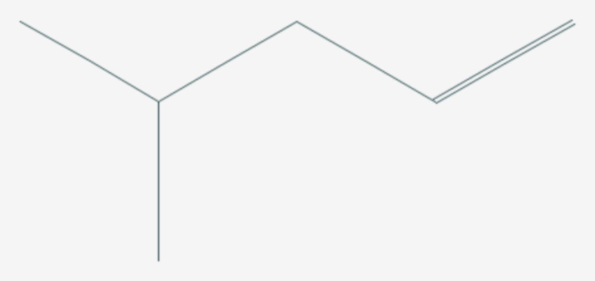 4-Methyl-1-penten (Strukturformel)