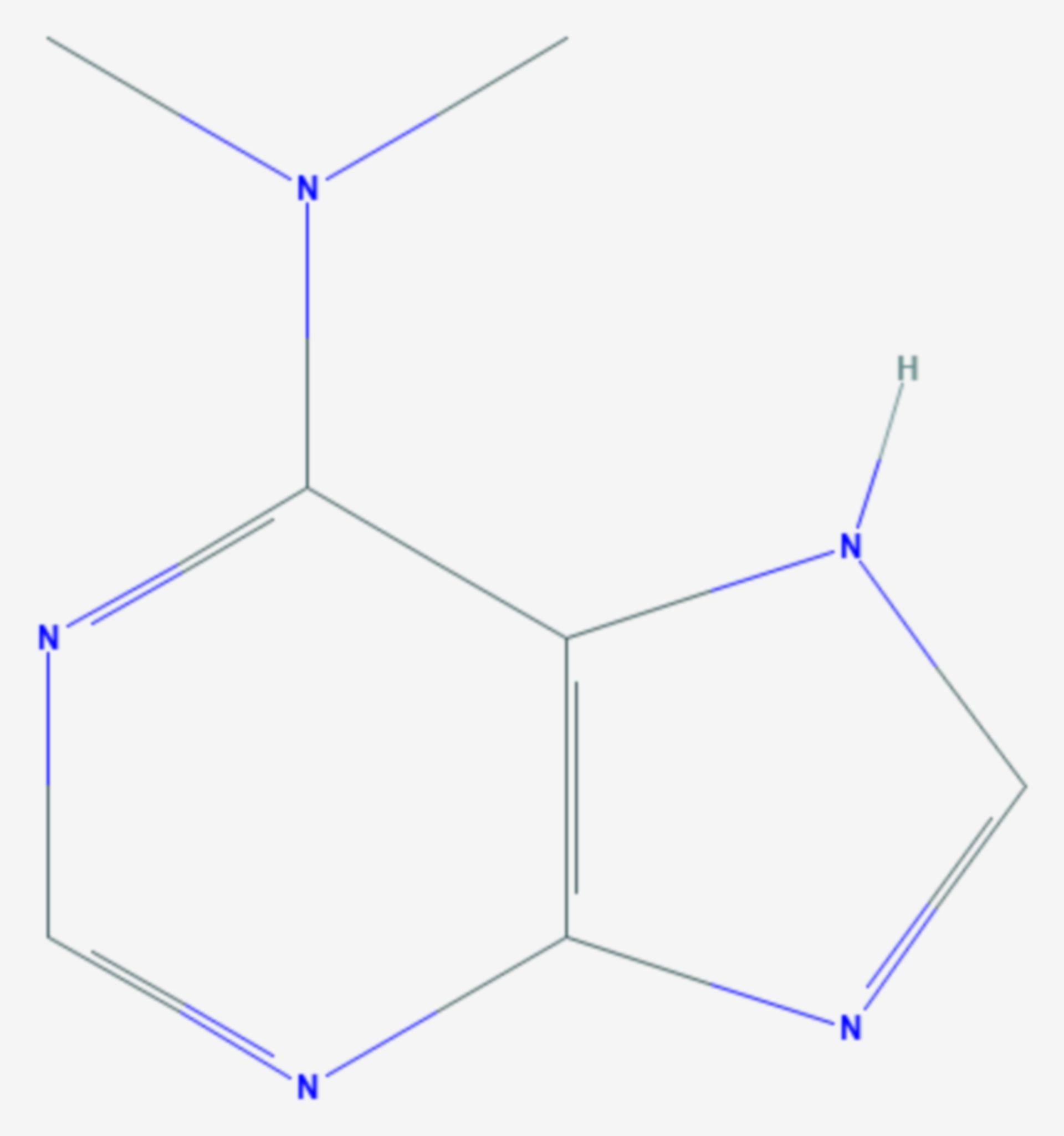 N6,N6-Dimethyladenin (Strukturformel)