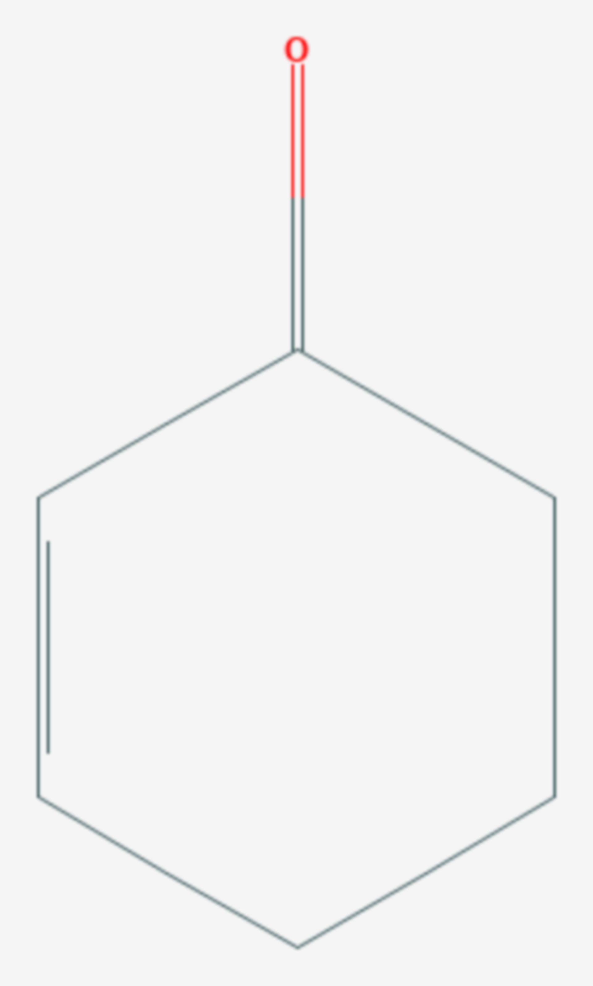 2-Cyclohexen-1-on (Strukturformel)