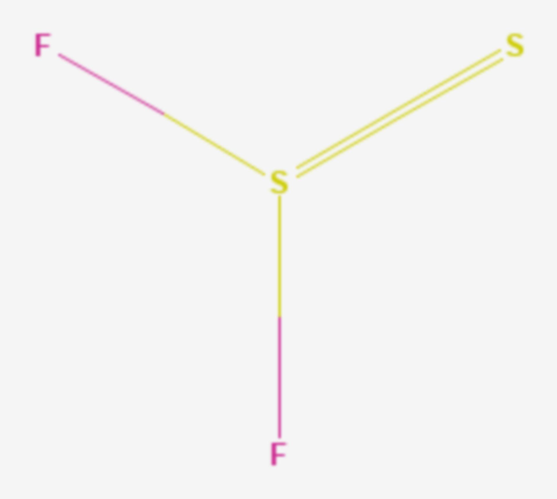 Thiothionylfluorid (Strukturformel)