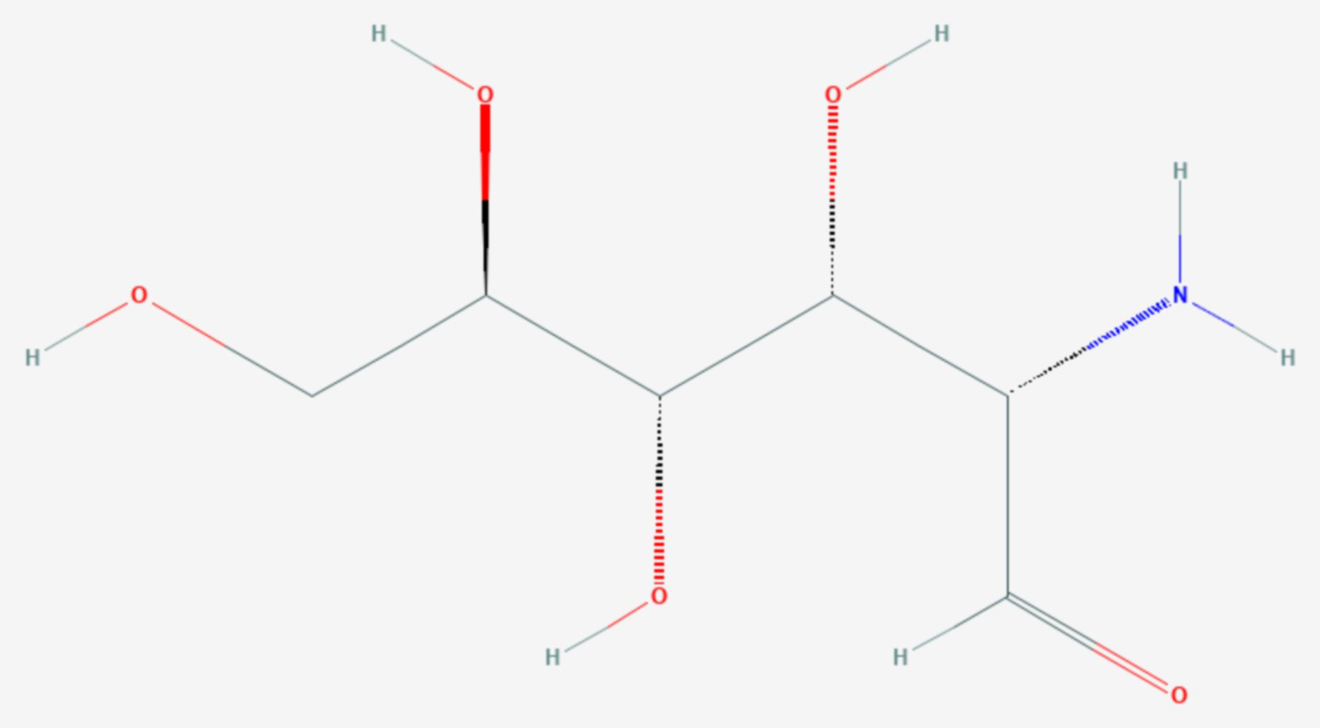 Mannosamin (Strukturformel)