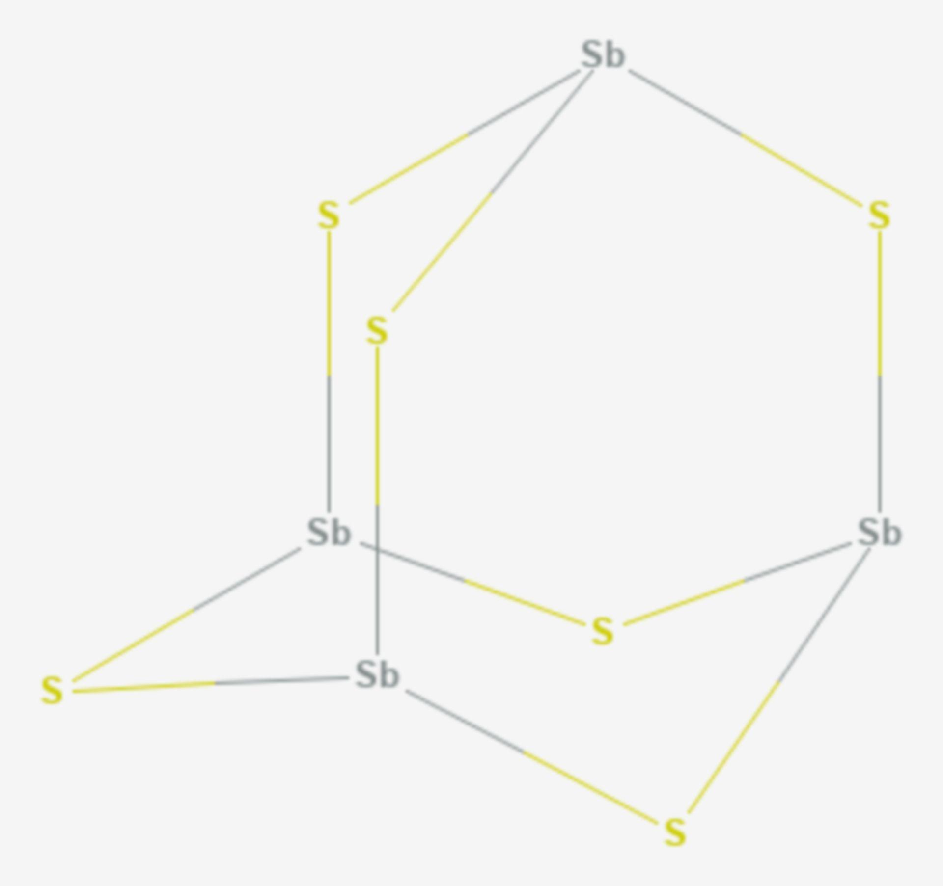 Antimon(III)-sulfid (Strukturformel)