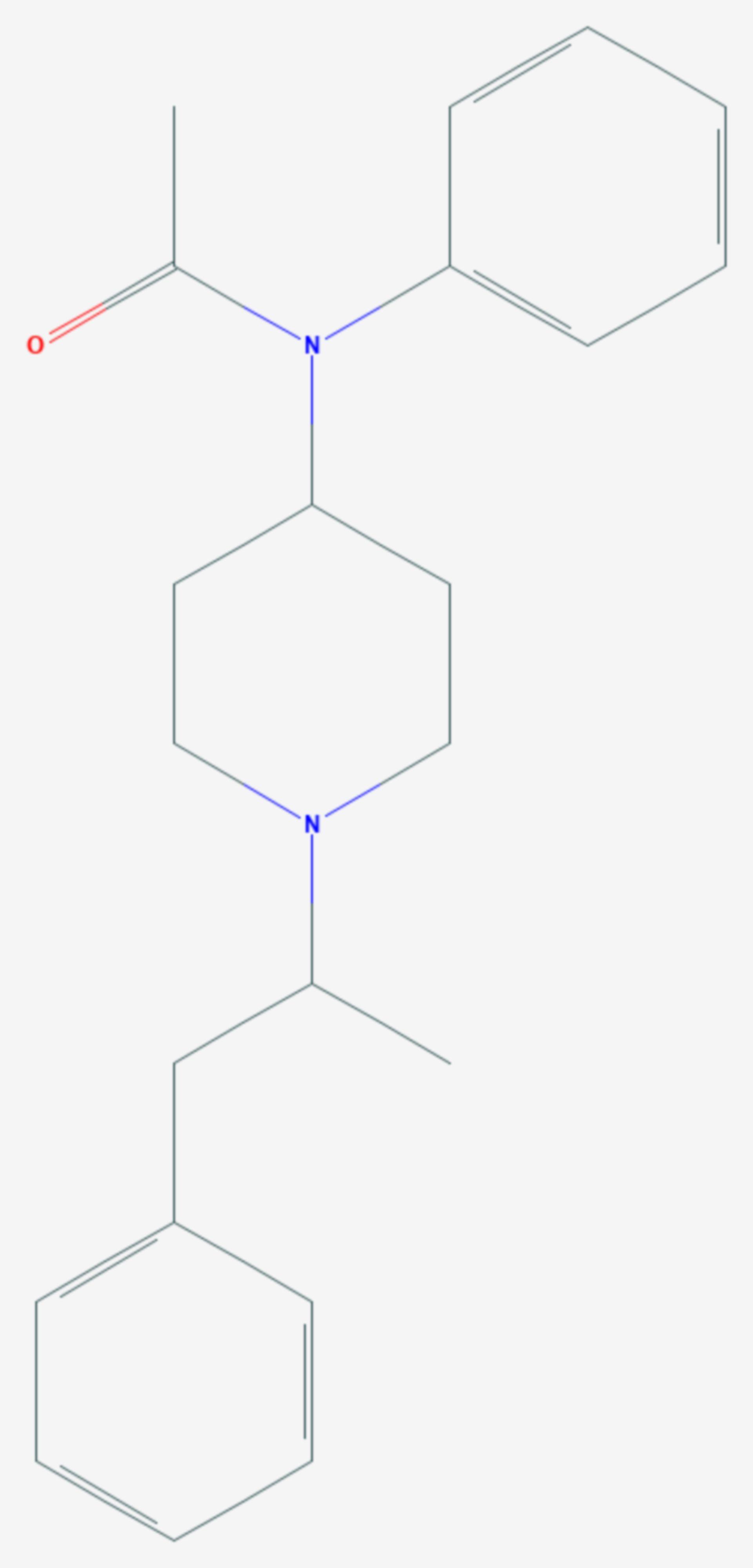 Acetyl-α-methylfentanyl (Strukturformel)