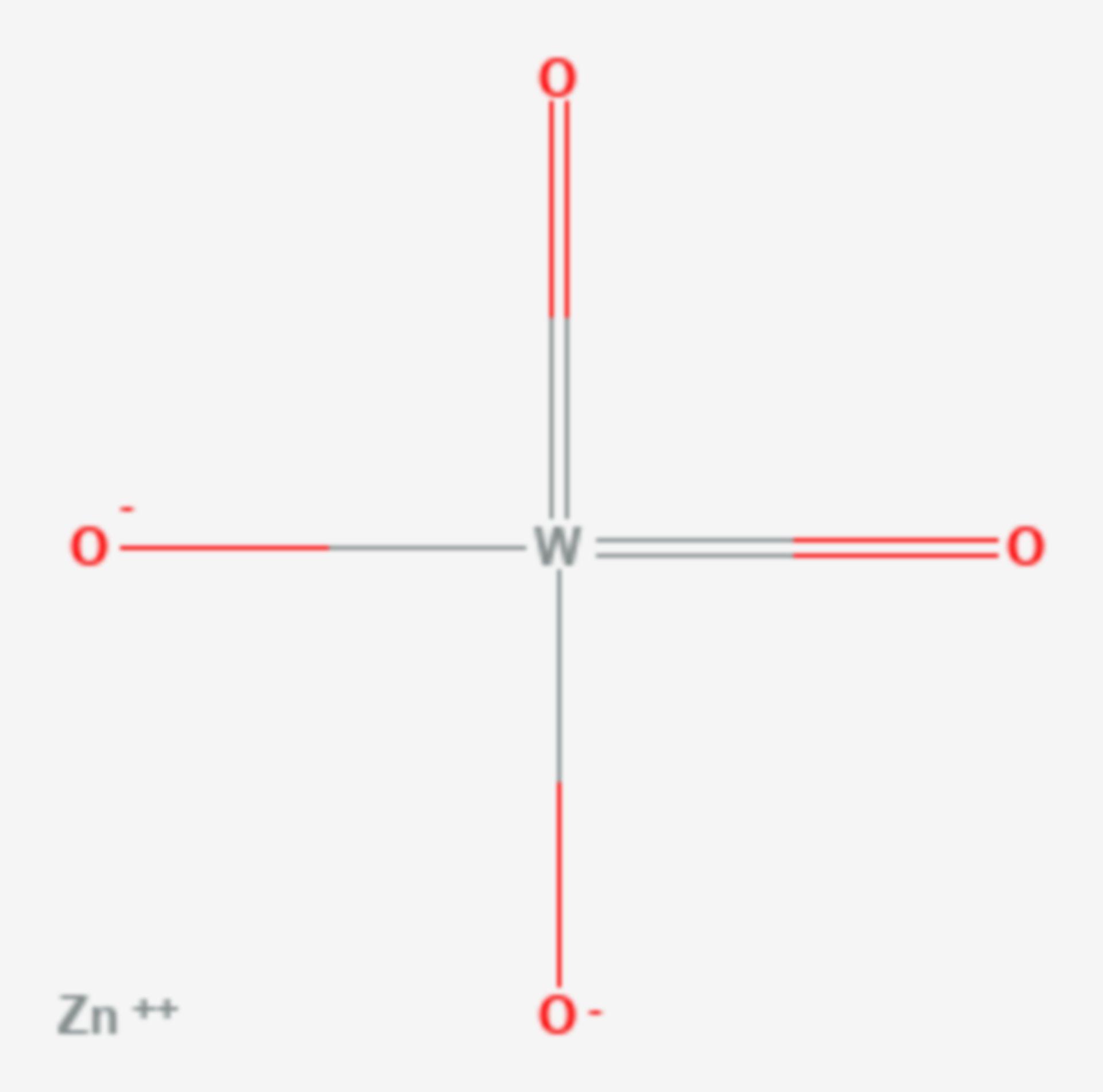 Zinkwolframat (Strukturformel)