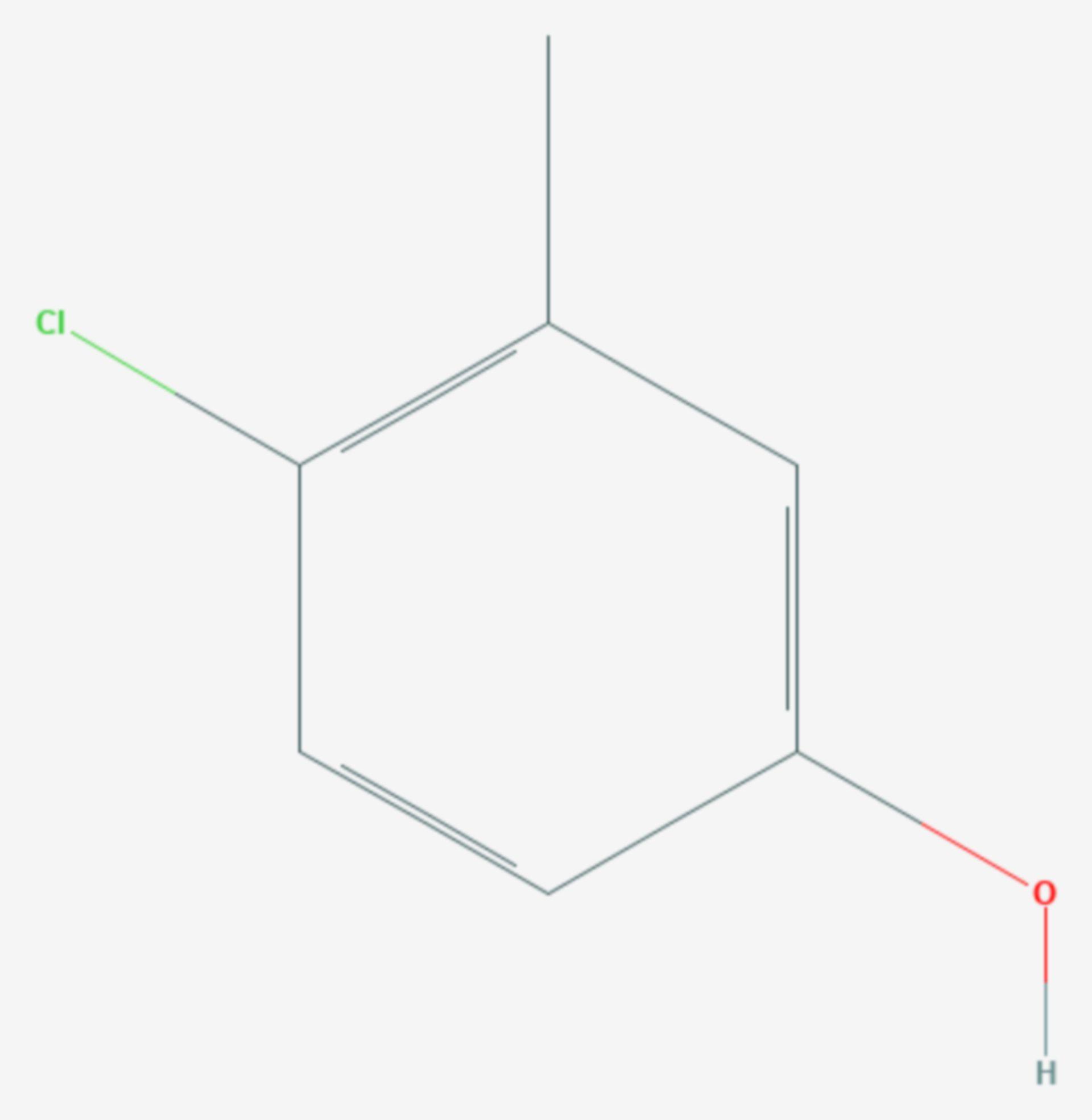 4-Chlor-3-methylphenol (Strukturformel)