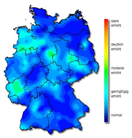 Karte Influenza-Diagnostik