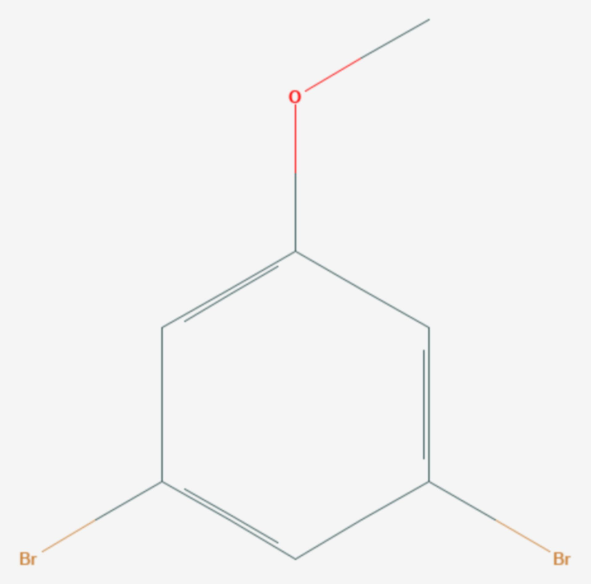 3,5-Dibromanisol (Strukturformel)
