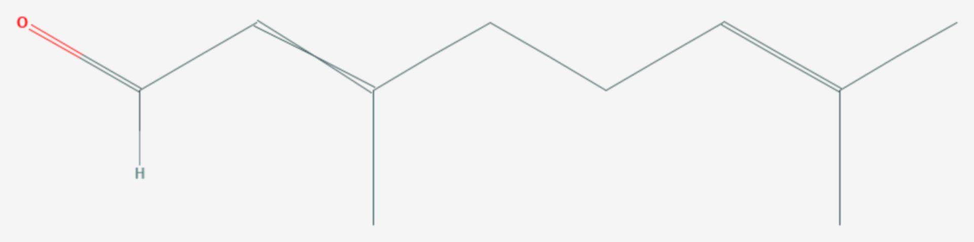 Citral (Strukturformel)