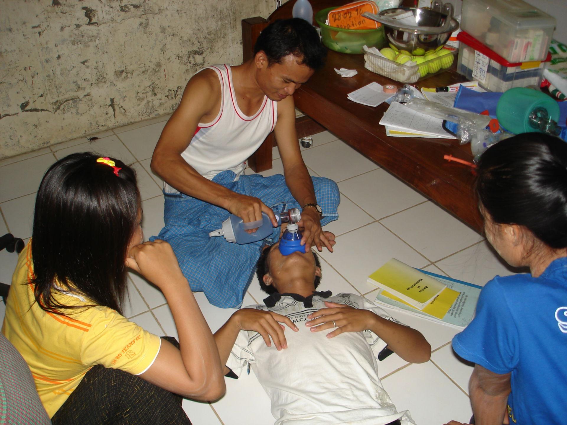 Training von Herz-Kreislauf Notfällen