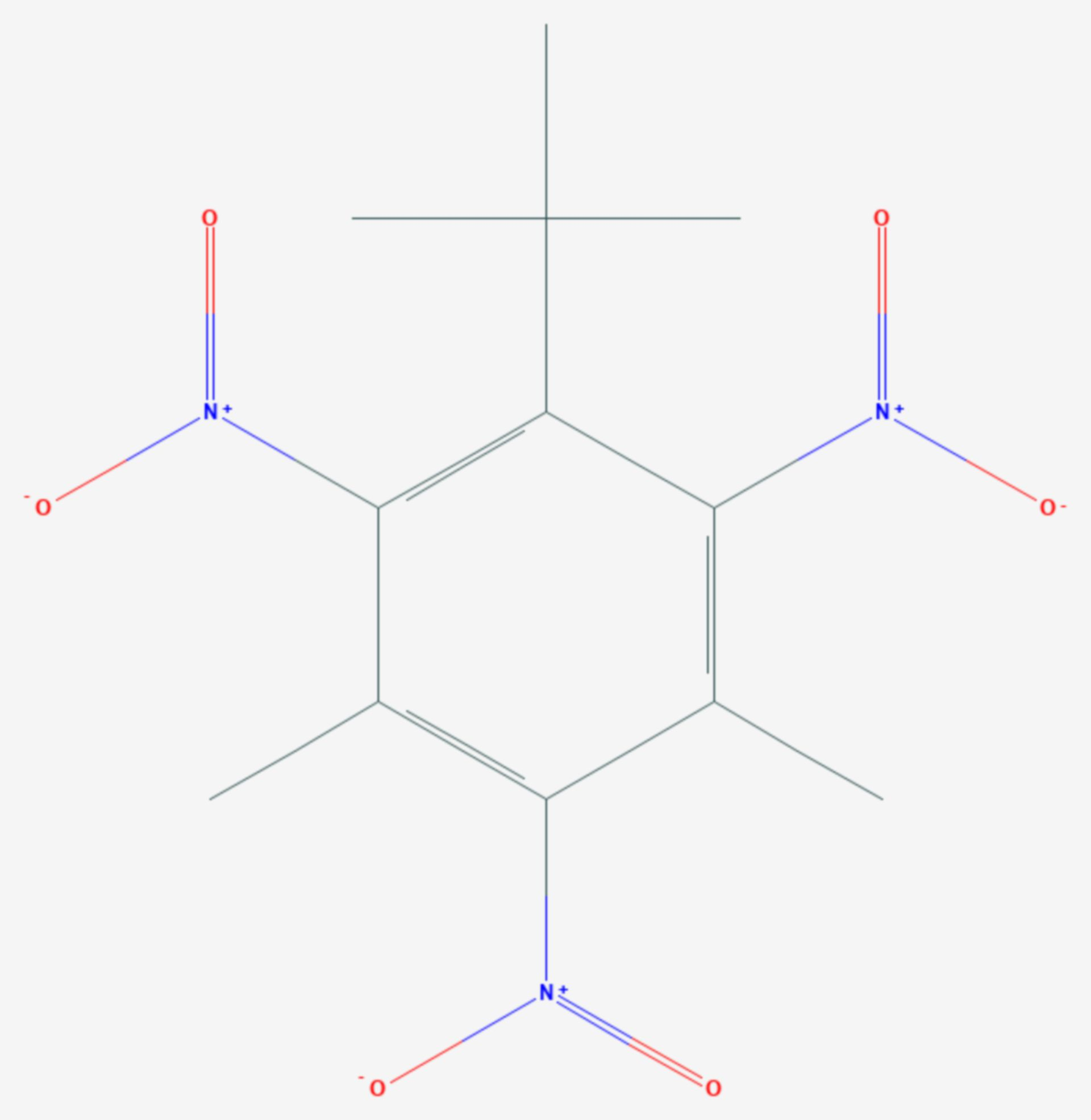 Moschusxylol (Strukturformel)