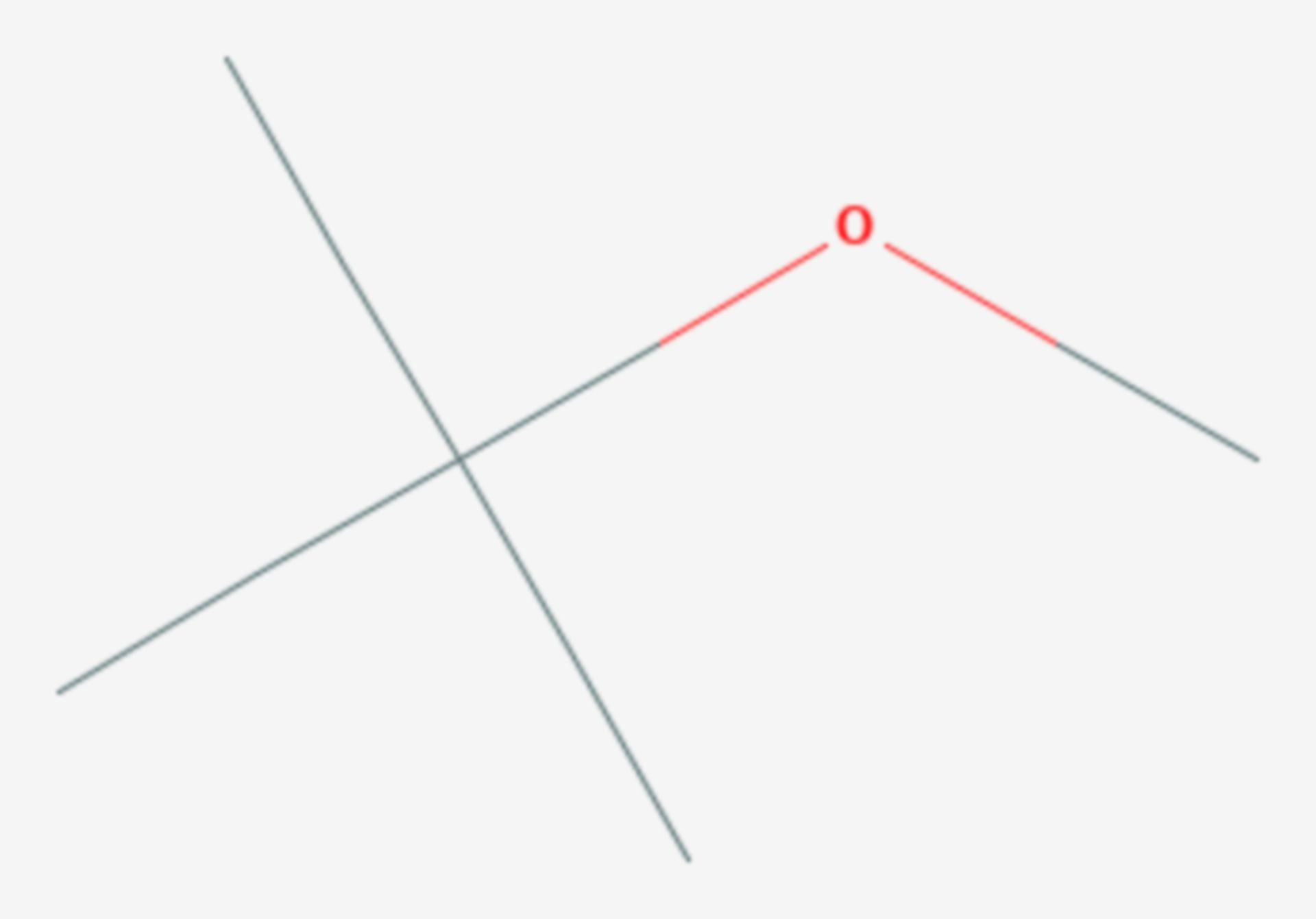 MTBE (Strukturformel)