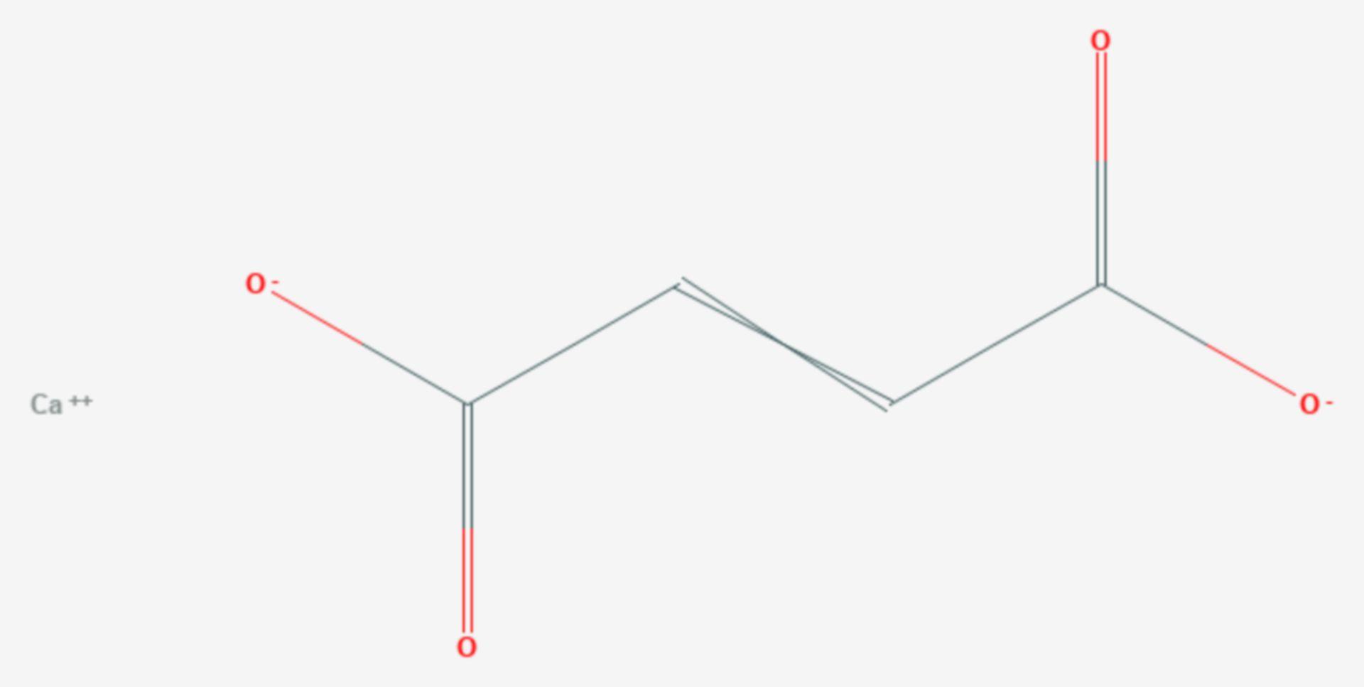 Calciumfumarat (Strukturformel)
