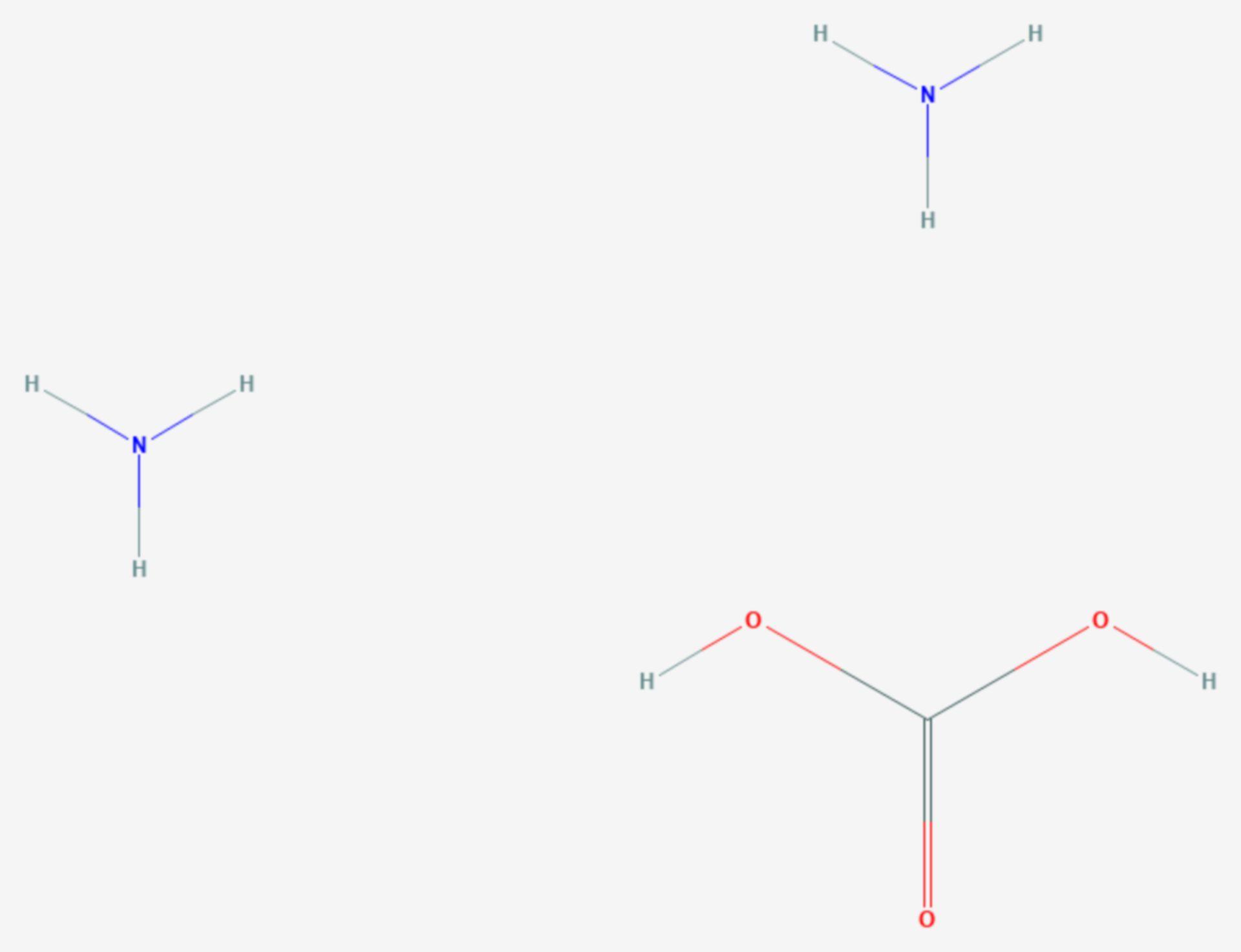 Ammoniumcarbonat (Strukturformel)