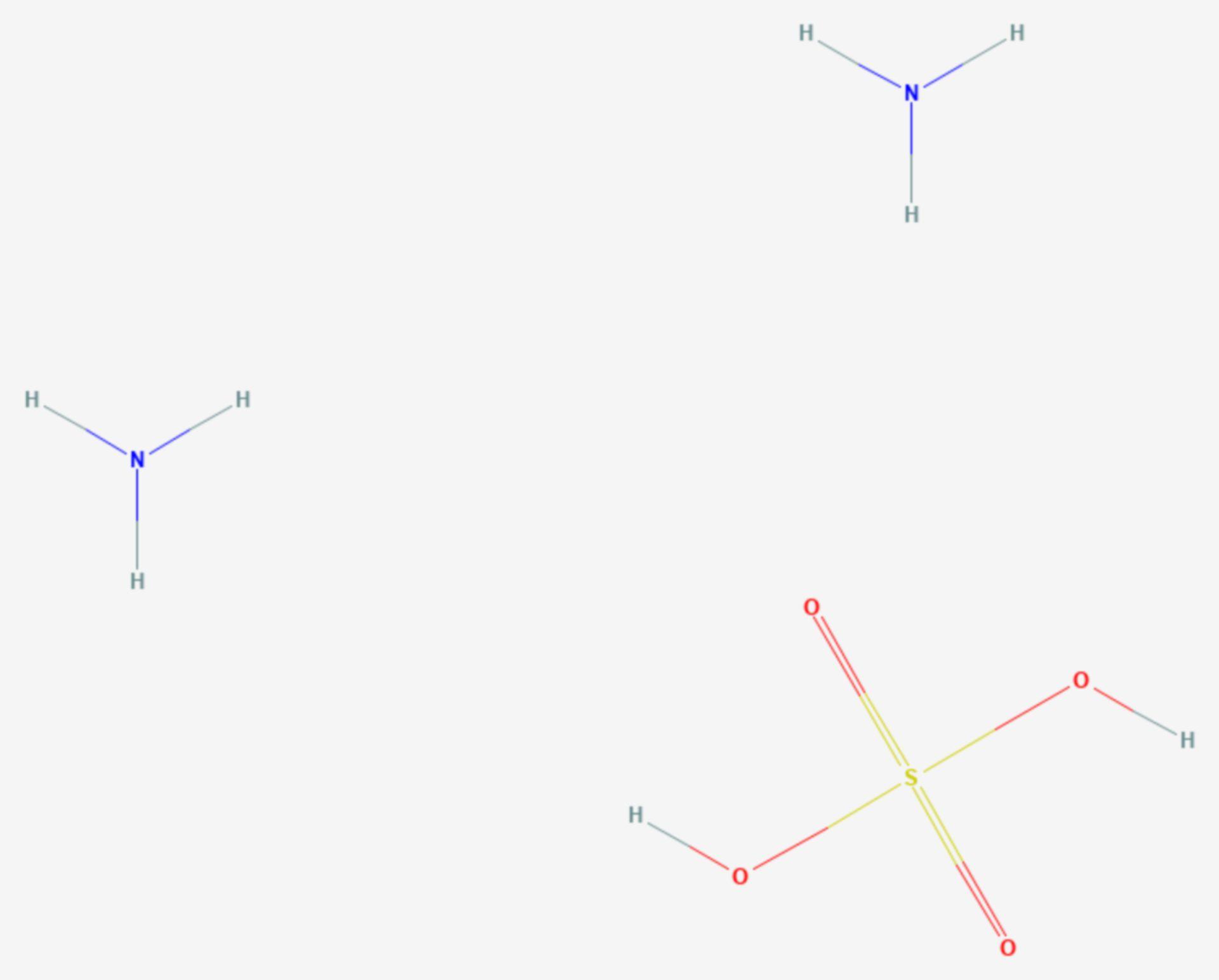 Ammoniumsulfat (Strukturformel)