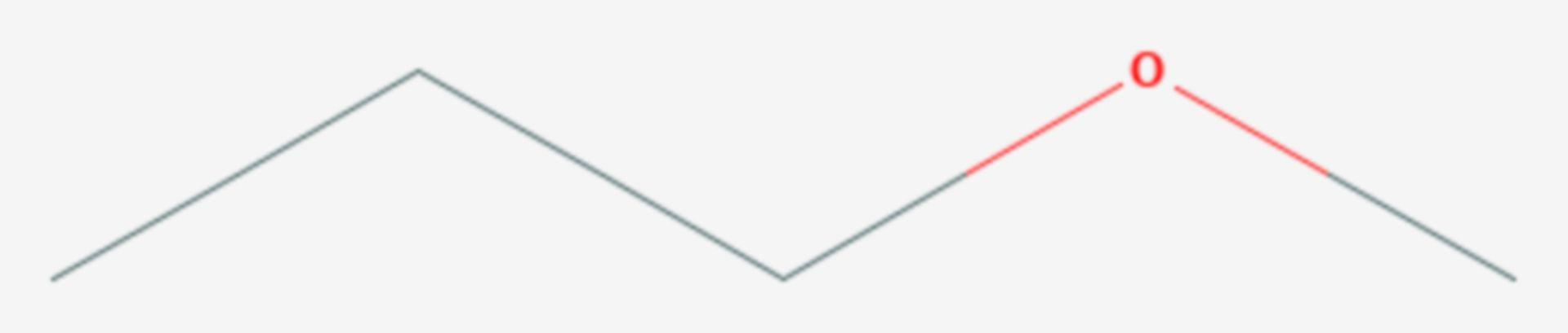 Methyl-n-propylether (Strukturformel)