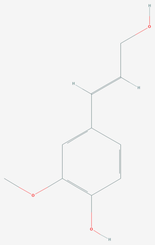 Coniferylalkohol (Strukturformel)