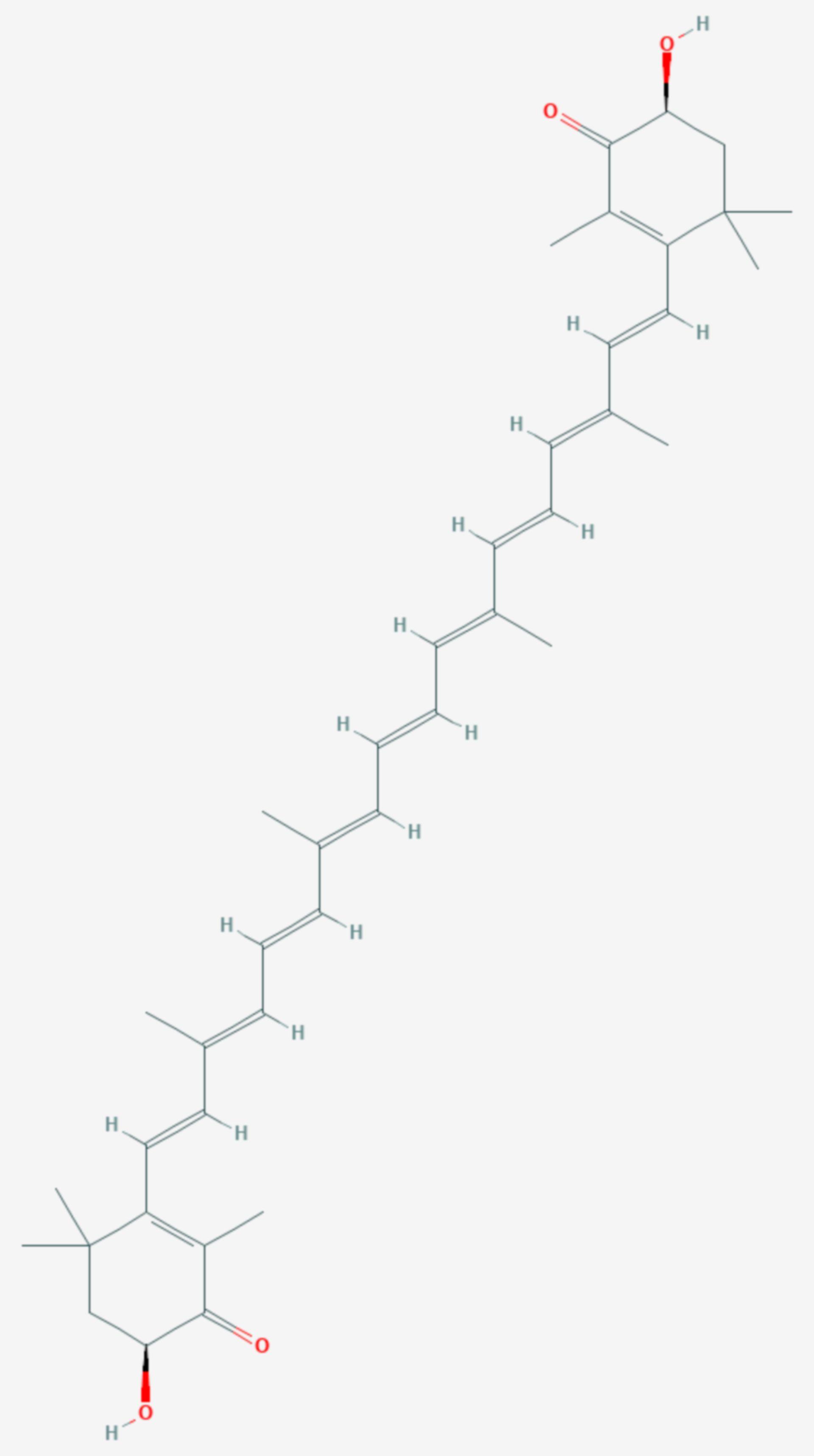 Astaxanthin (Strukturformel)