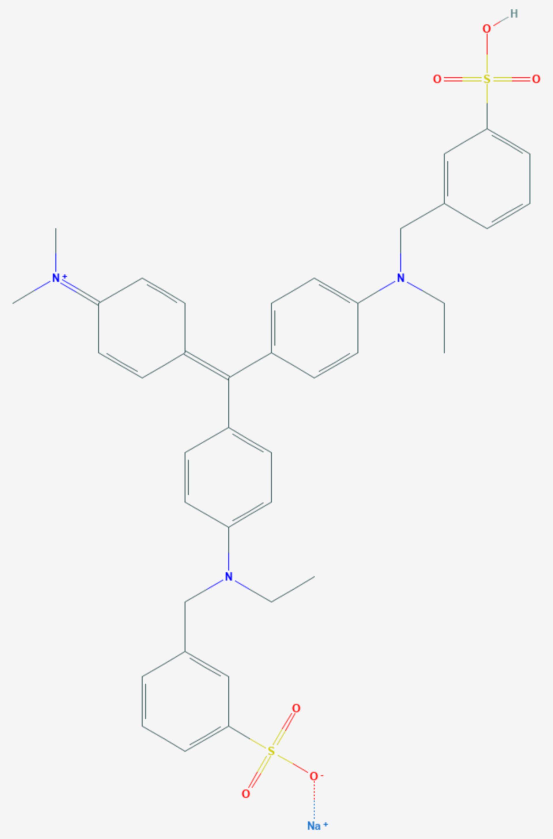 Coomassie violet R200 (Strukturformel)