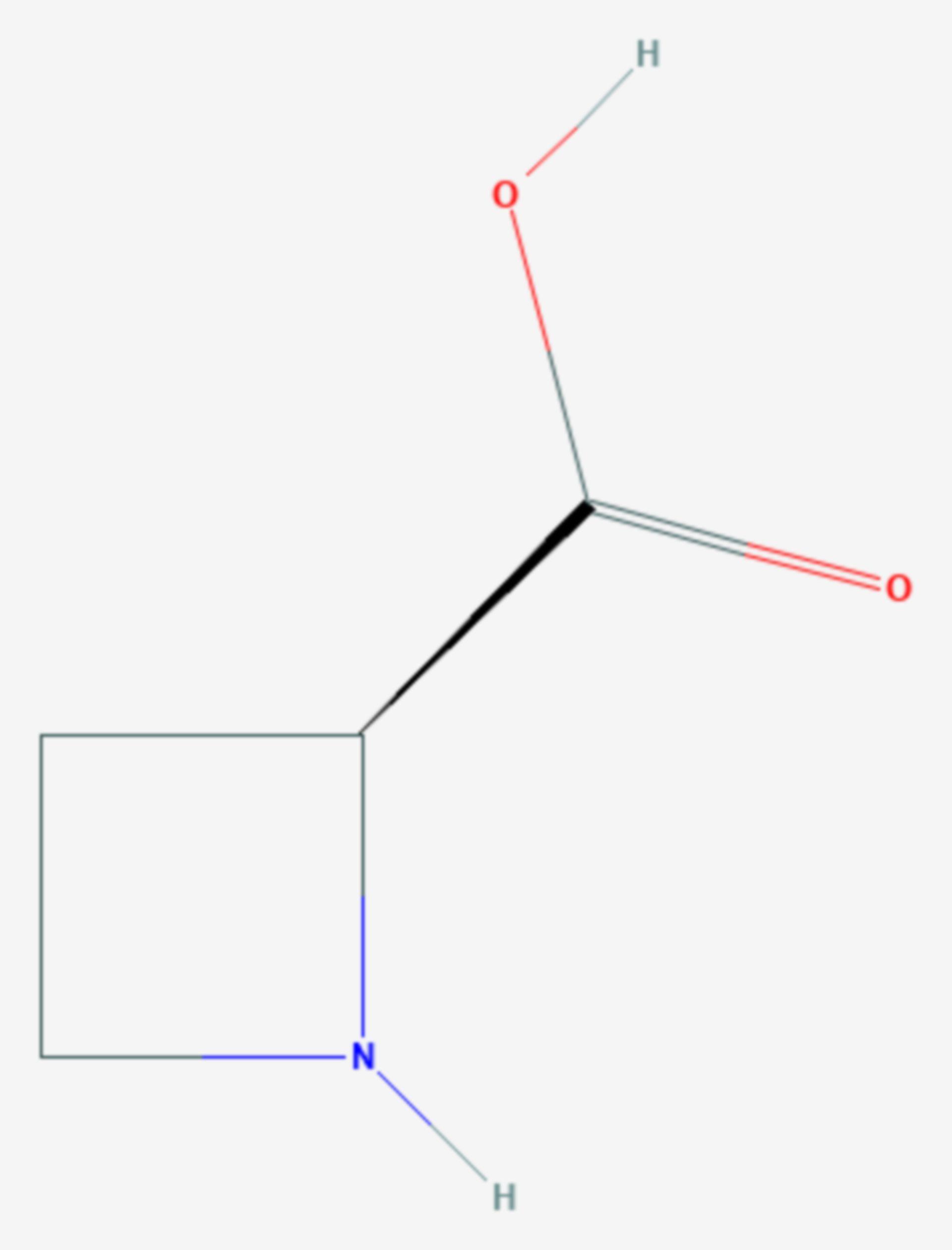 Azetidin-2-carbonsäure (Strukturformel)