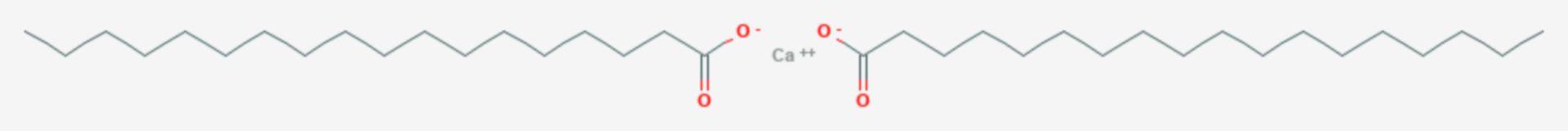 Calciumstearat (Strukturformel)