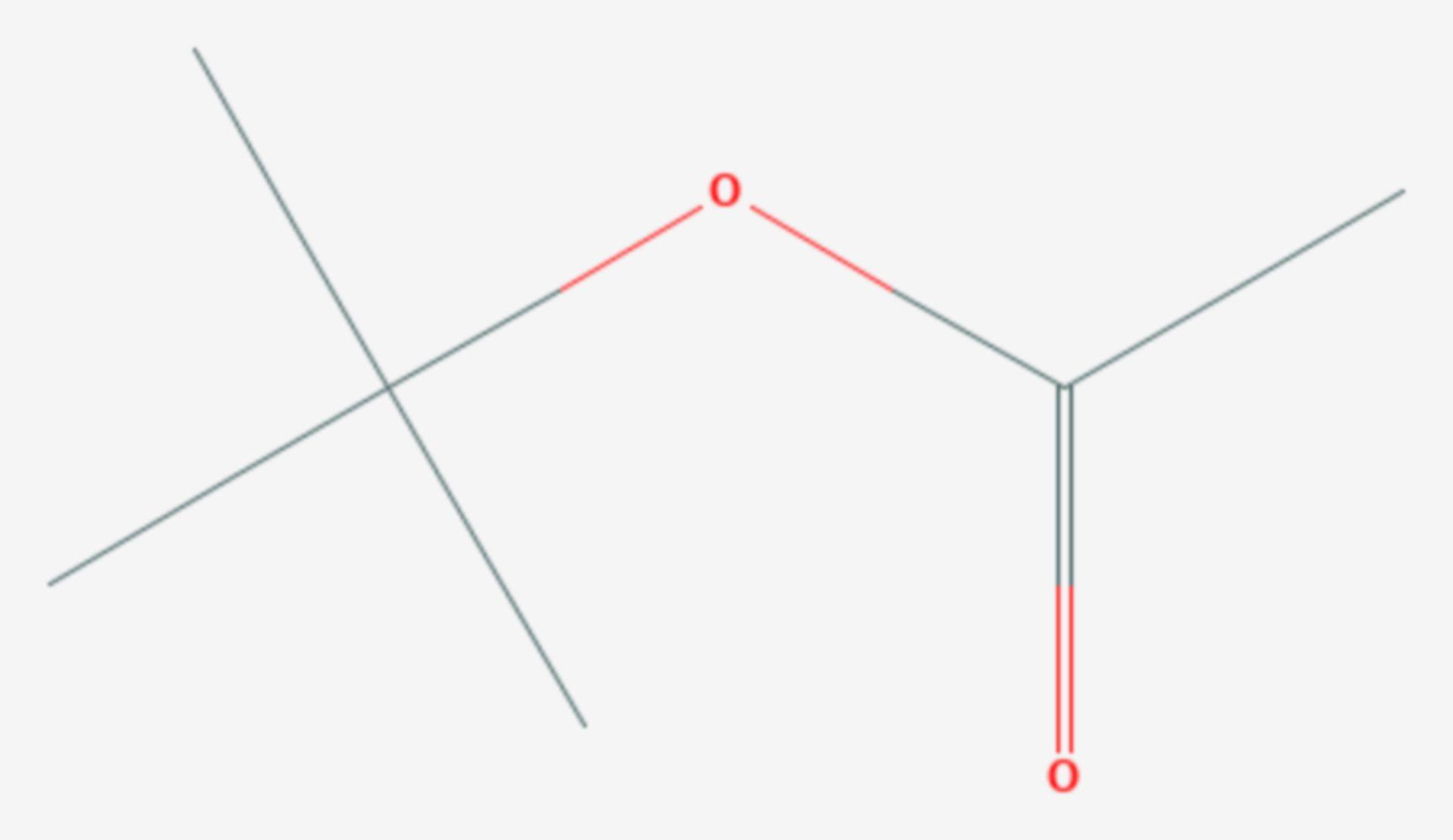 Essigsäure-tert-butylester (Strukturformel)