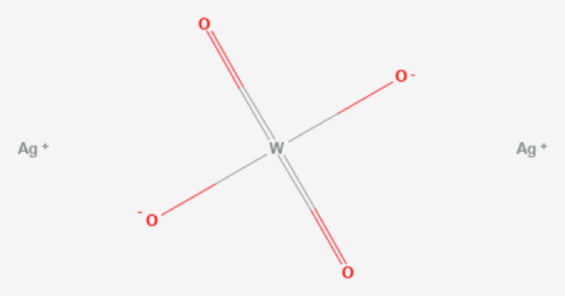 Silberwolframat (Strukturformel)