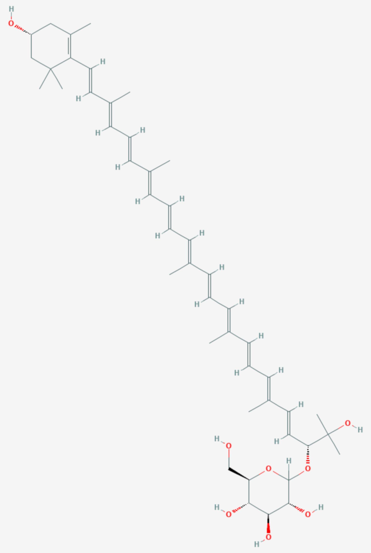 Myxoxanthophyll (Strukturformel)