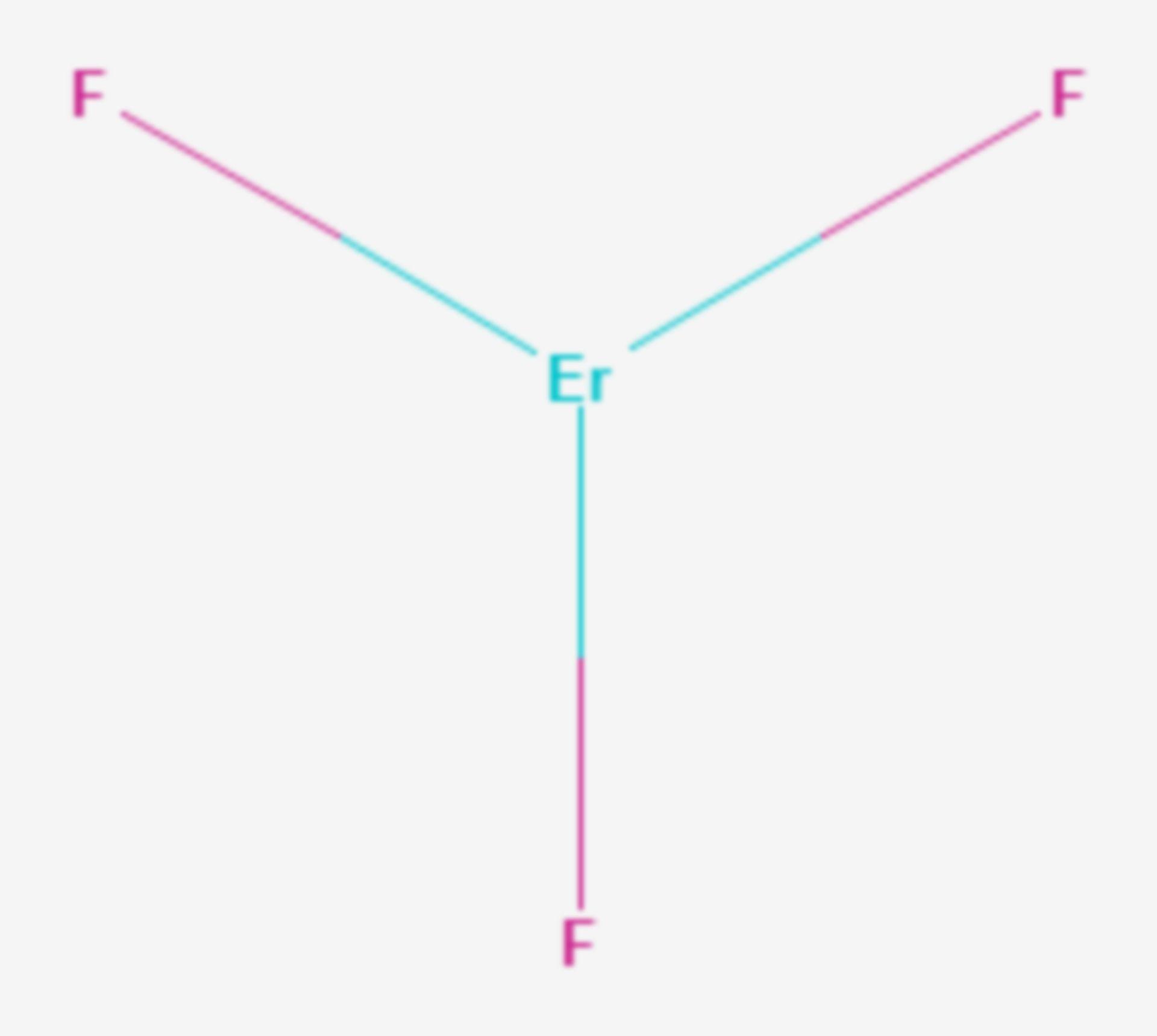 Erbium(III)-fluorid (Strukturformel)