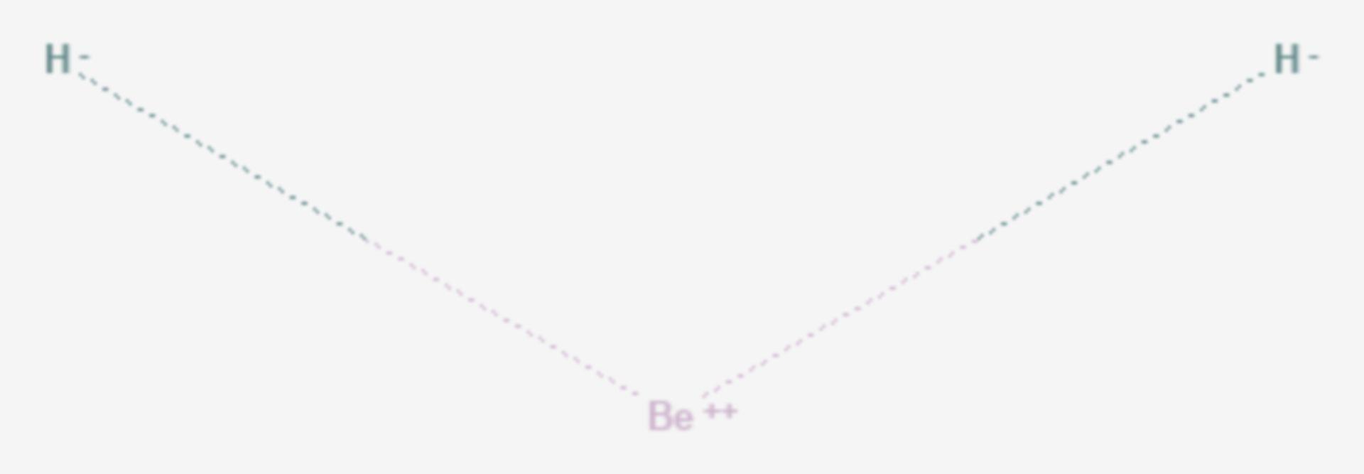 Berylliumhydrid (Strukturformel)