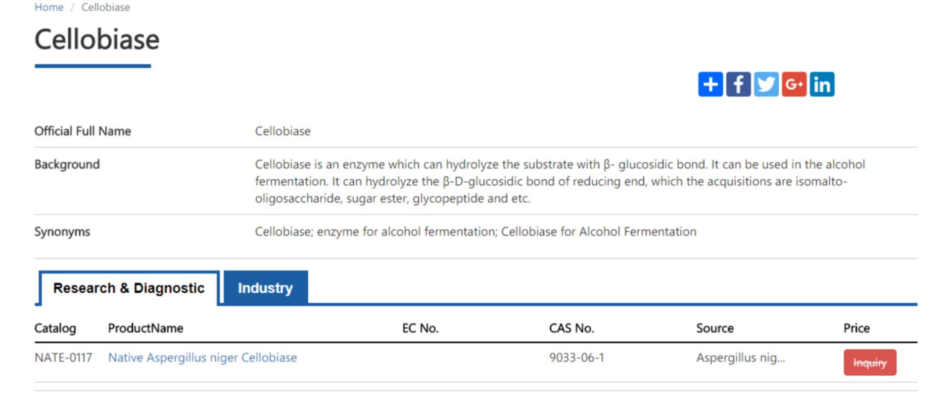 cellobiase enzyme