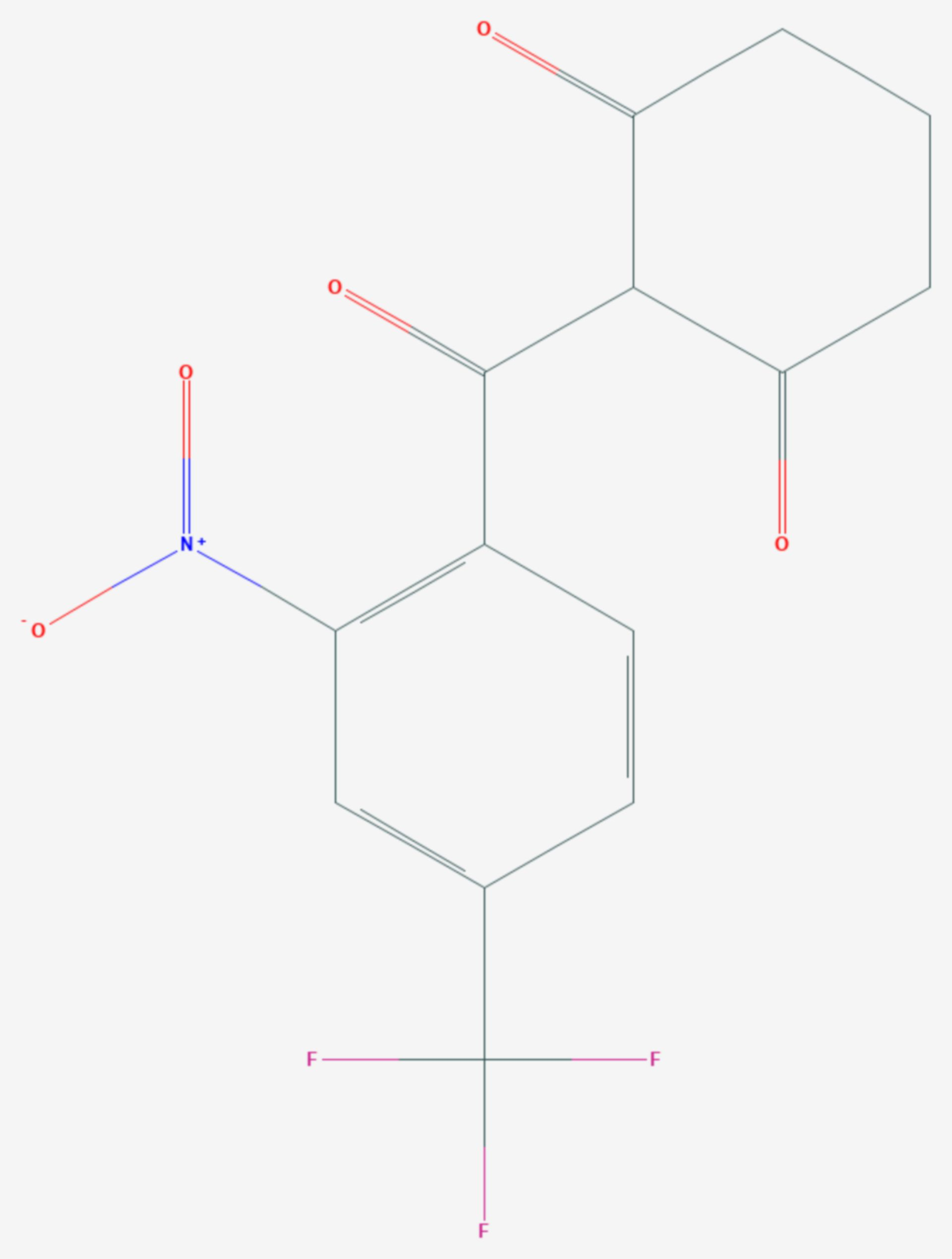 Nitisinon (Strukturformel)