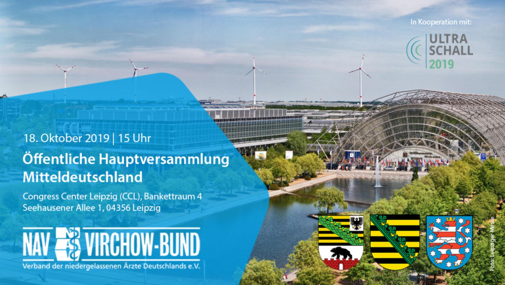 Einladung: Landeshauptversammlung Mitteldeutschland im NAV-Virchow-Bund