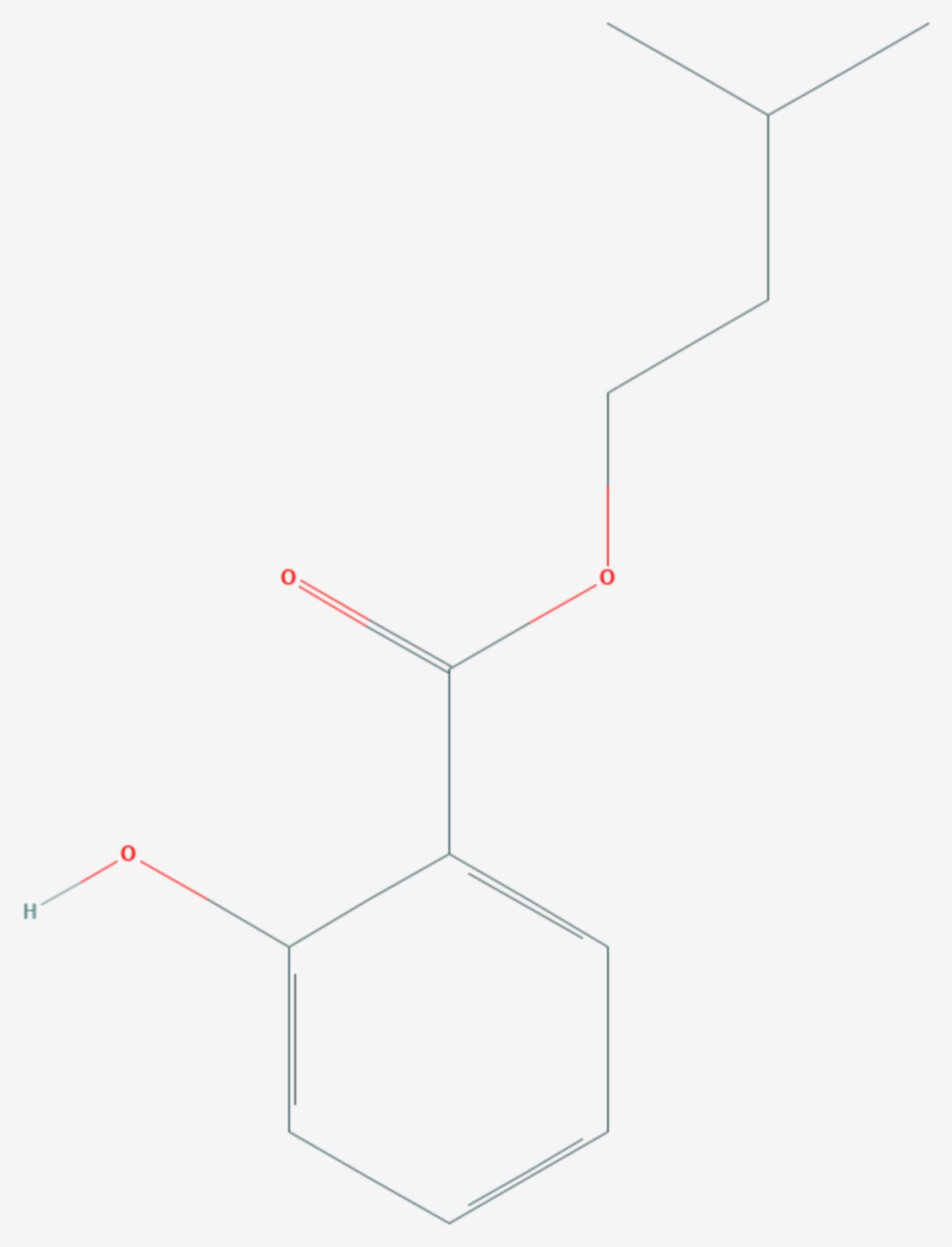 Salicylsäureisopentylester (Strukturformel)
