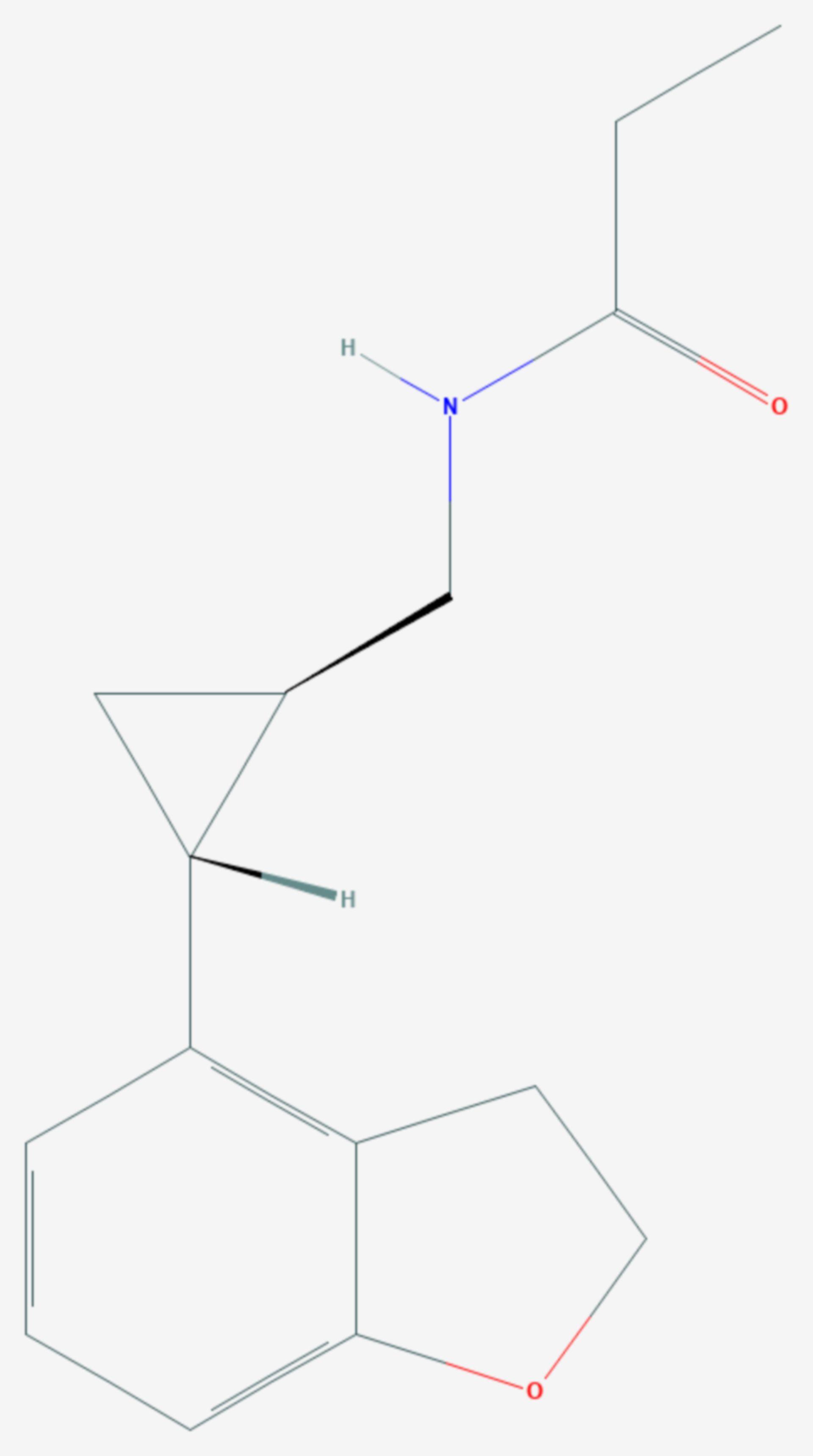 Tasimelteon (Strukturformel)